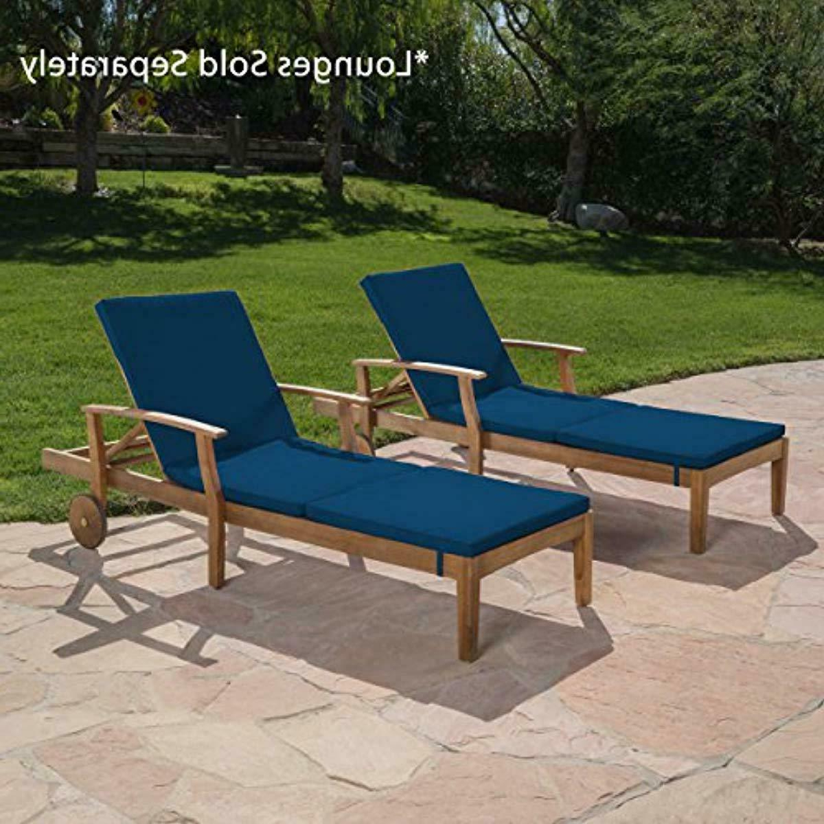 2019 Christopher Knight Home 303998 Jessica Outdoor Chaise Lounge Cushion (set Of 2), Regarding Salton Outdoor Chaise Lounges (View 16 of 25)