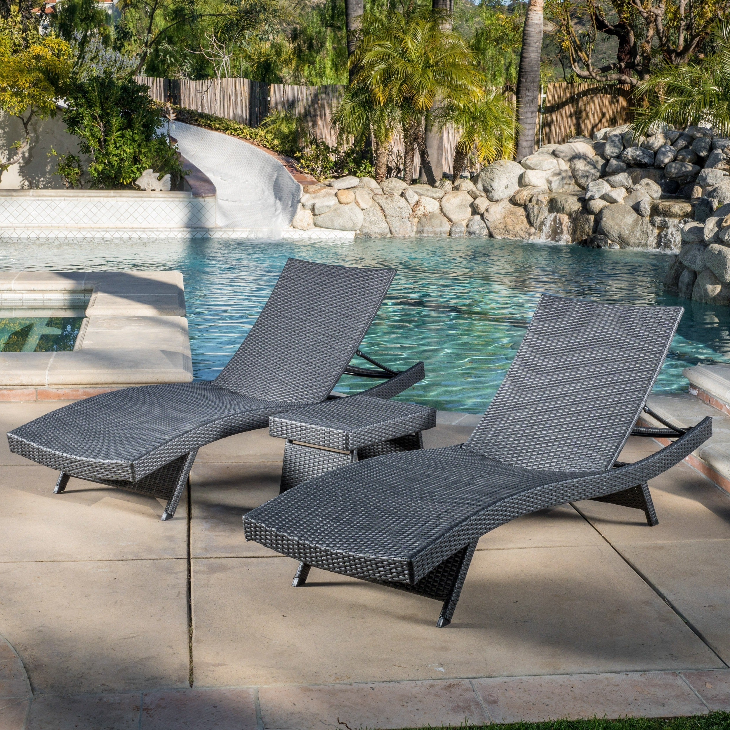 2019 Havenside Home Vilano 3 Piece Outdoor Lounge Set Throughout Havenside Home Surfside Relaxer Chaise Lounges (Gallery 21 of 25)