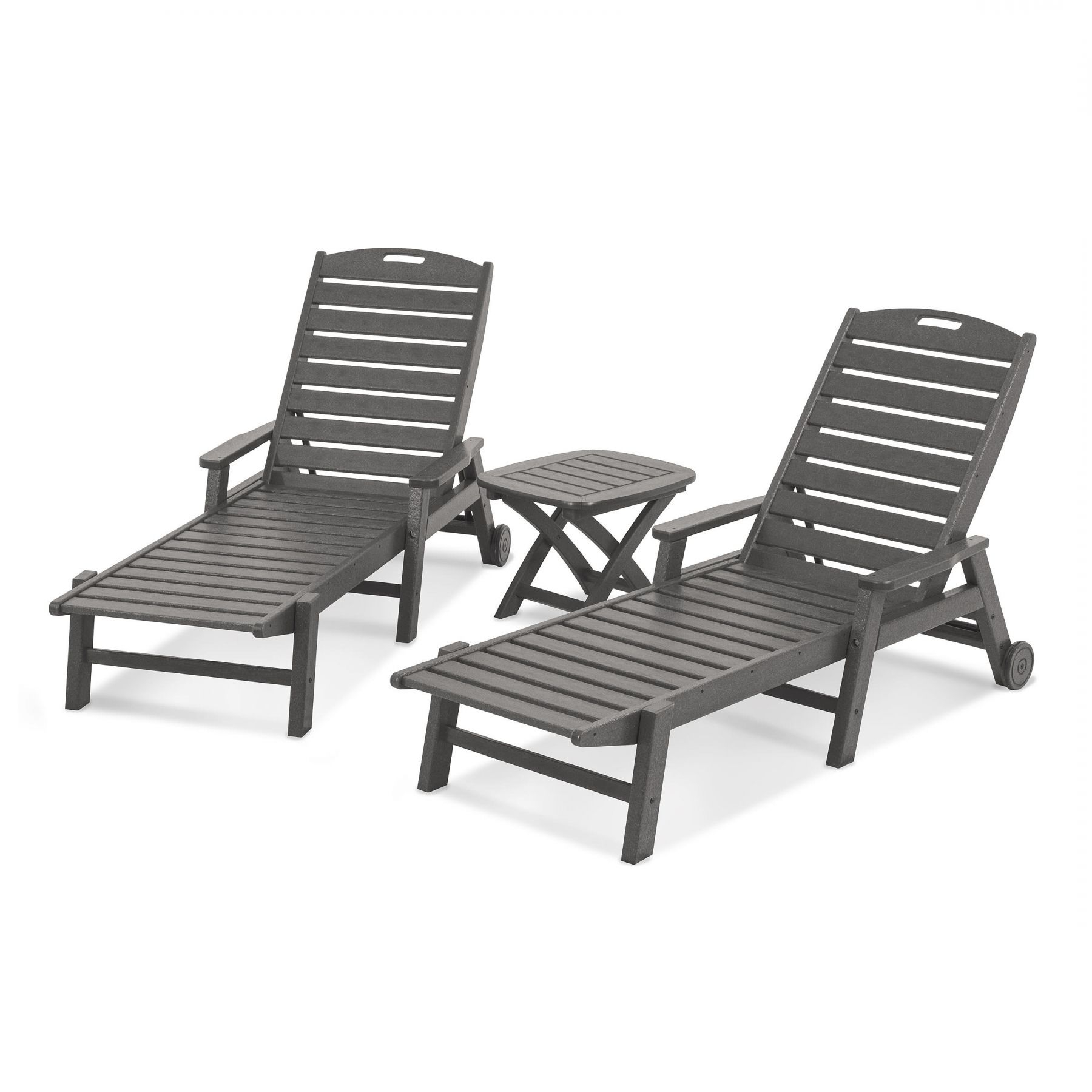 2019 Polywood® Nautical 3 Piece Chaise Set (Gallery 11 of 25)