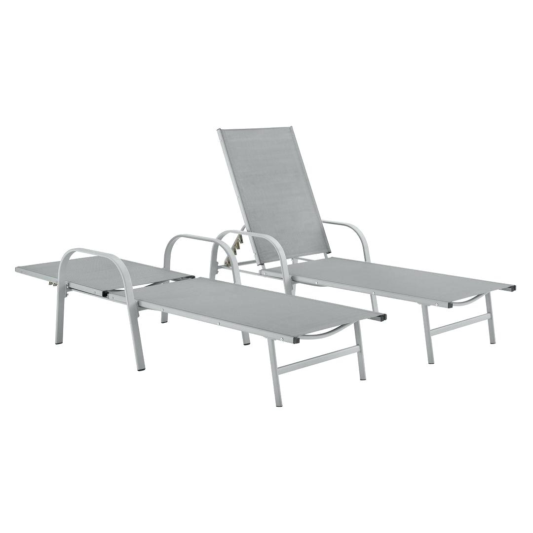 2019 Poolside Furniture Sling Fabric Adjustable Outdoor Chaise Throughout Outdoor Sling Eucalyptus Chaise Loungers (View 1 of 25)
