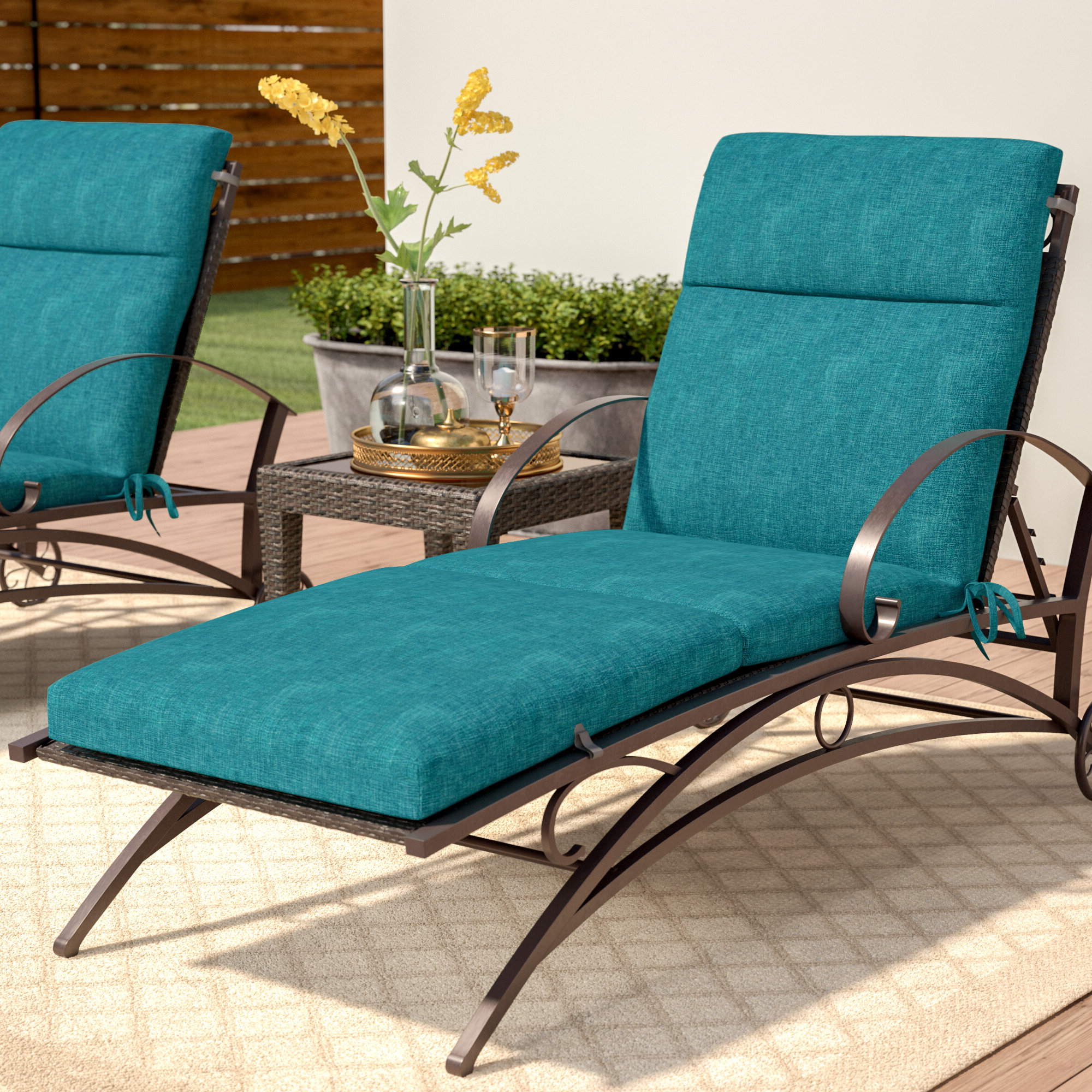 2019 Three Posts Indoor/outdoor Chaise Lounge Cushion & Reviews With Regard To Bradenton Outdoor Wicker Chaise Lounges With Cushions (View 12 of 25)