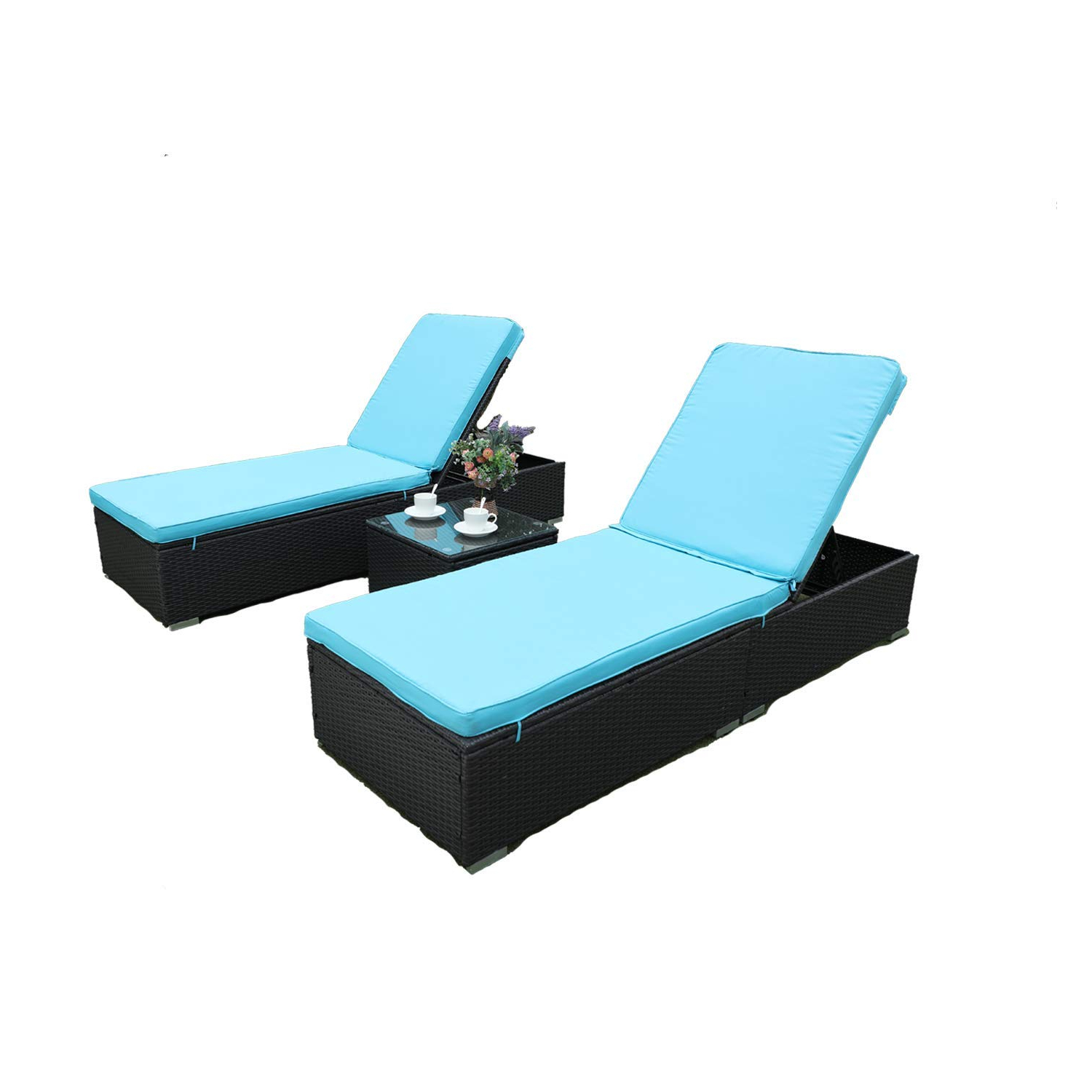 2020 Cheap Blue Chaise Lounge Chairs, Find Blue Chaise Lounge With Regard To Floral Blossom Chaise Lounge Chairs With Cushion (View 2 of 25)