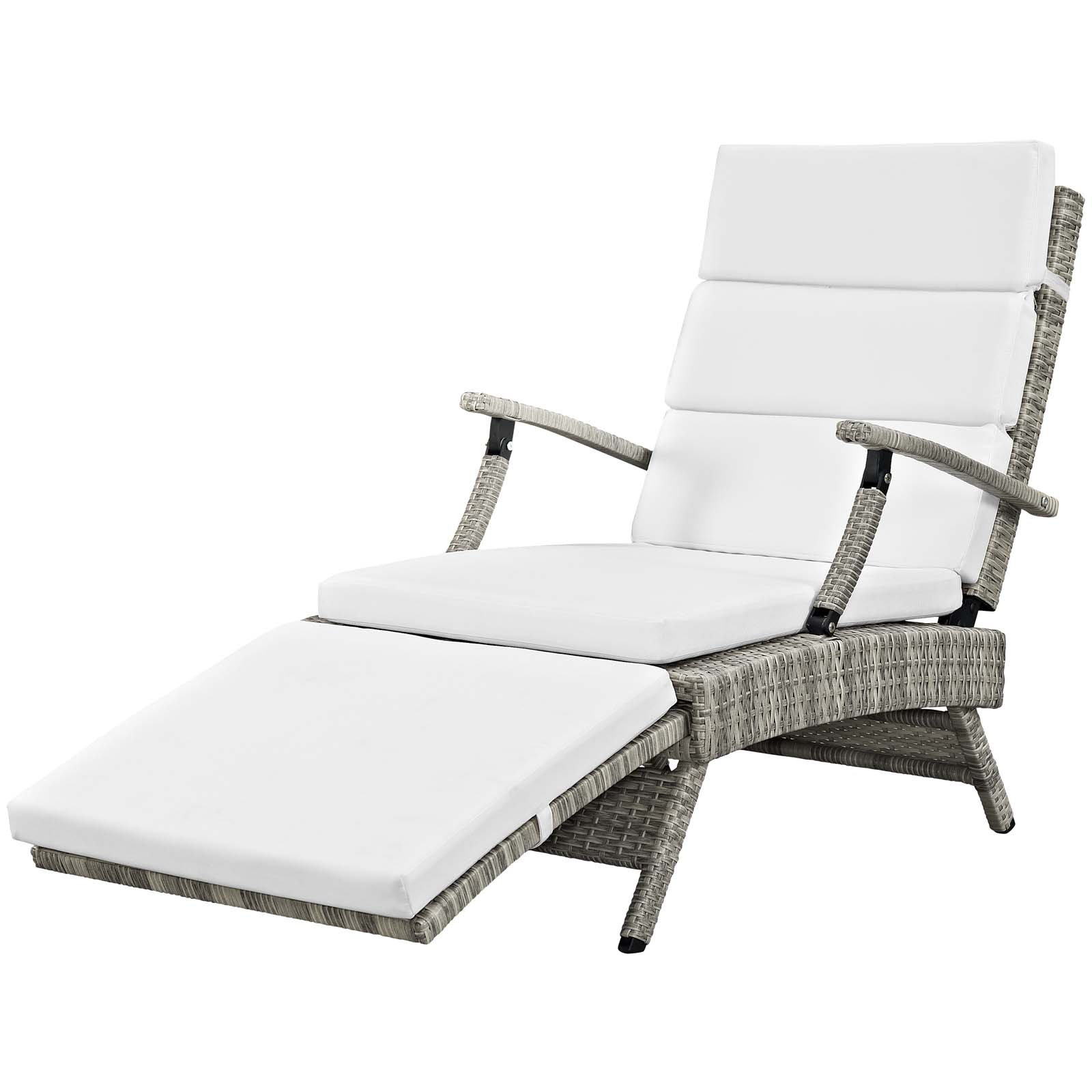 2020 Envisage Chaise Outdoor Patio Wicker Rattan Lounge Chairs Within Details About Envisage Chaise Outdoor Patio Wicker Rattan Lounge Chair – Light Gray Beige (View 2 of 25)