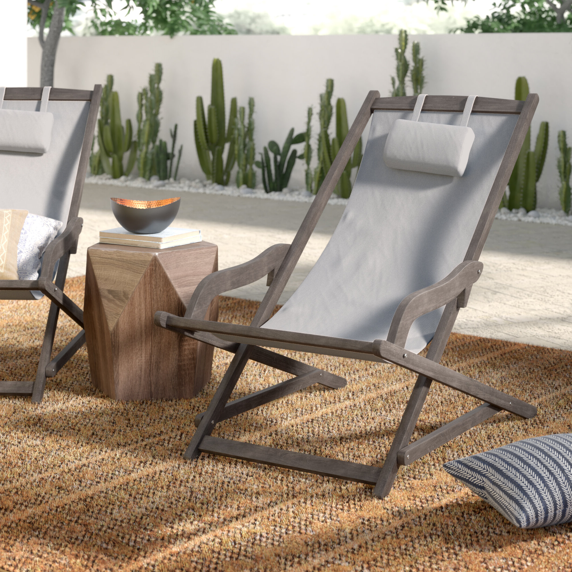 2020 Outdoor Wood Sling Chairs In Tardiff Outdoor Wood And Canvas Sling Arm Chair (View 1 of 25)