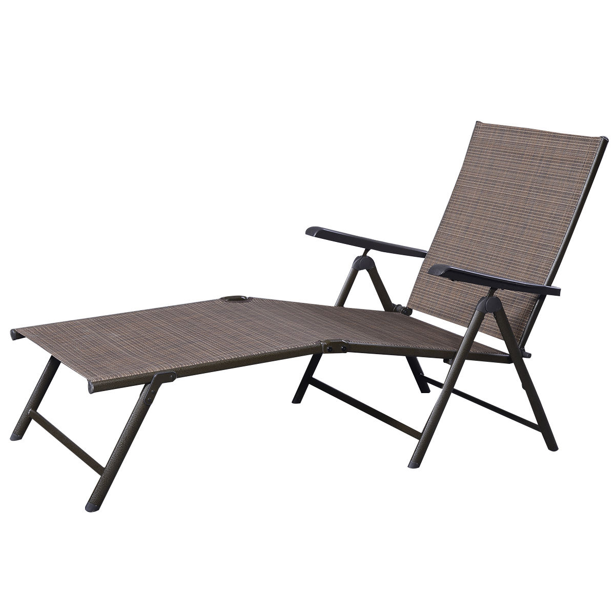 2020 Reclining Sling Lounge Chairs Throughout Outdoor Adjustable Chaise Lounge Chair (Gallery 12 of 25)