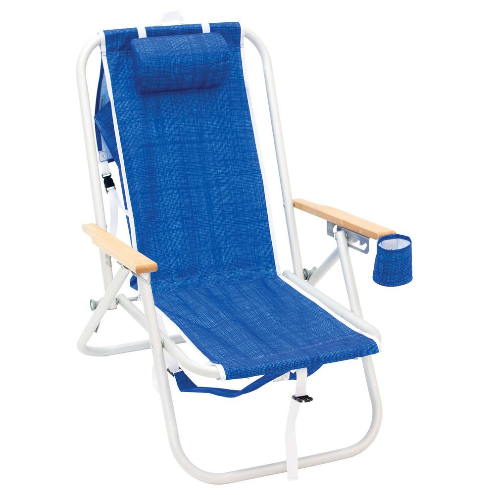 3 Position Portable Folding Reclining Beach Chaise Lounges Regarding Most Up To Date Rio 4 Position Aluminum Backpack Beach Chair (View 23 of 25)