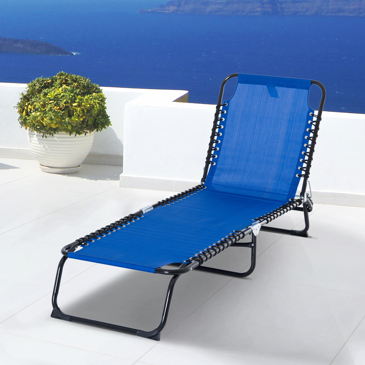 3 Position Portable Reclining Beach Chaise Lounges Inside Current Details About 3 Position Portable Reclining Beach Chaise Lounge Adjustable Sleeping Bed (View 6 of 25)