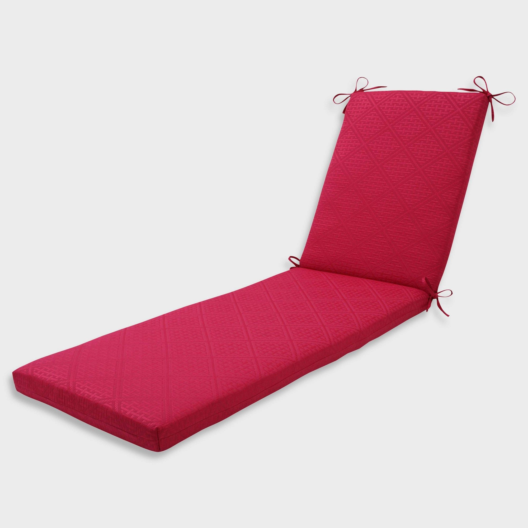 """80"""" X 23"""" X 3"""" Paragon Raspberry Chaise Lounge Outdoor With Regard To Preferred Indoor Outdoor Textured Bright Chaise Lounges With Sunbrella Fabric (Gallery 5 of 25)"""