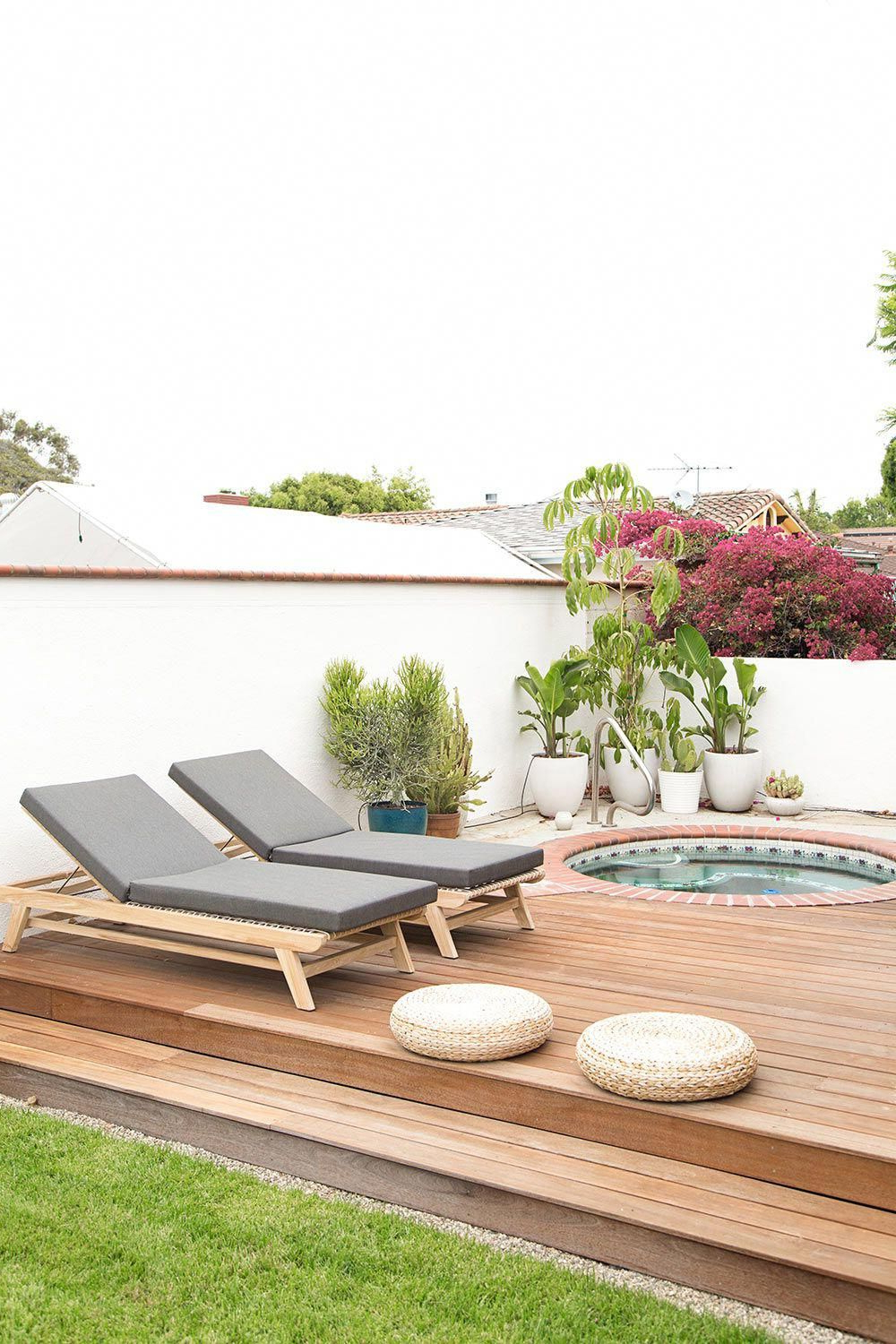 A Zen Oasis In La With Minimalist Mediterranean Roots Within Fashionable Outdoor Living Azusa Sunloungers (View 22 of 25)