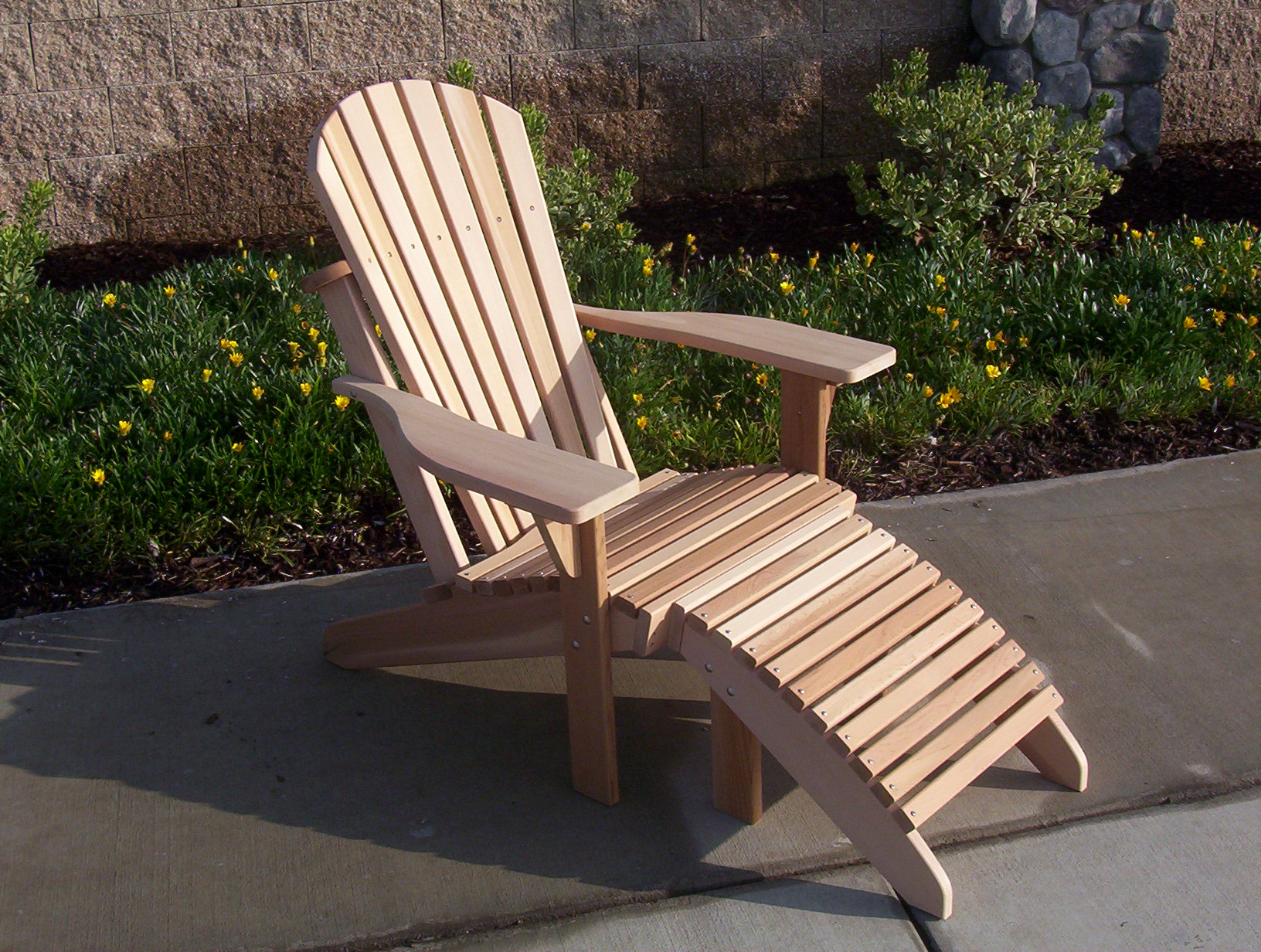 Adirondack Chairs With Footrest For Well Known Spring Garden Cedar (View 3 of 25)