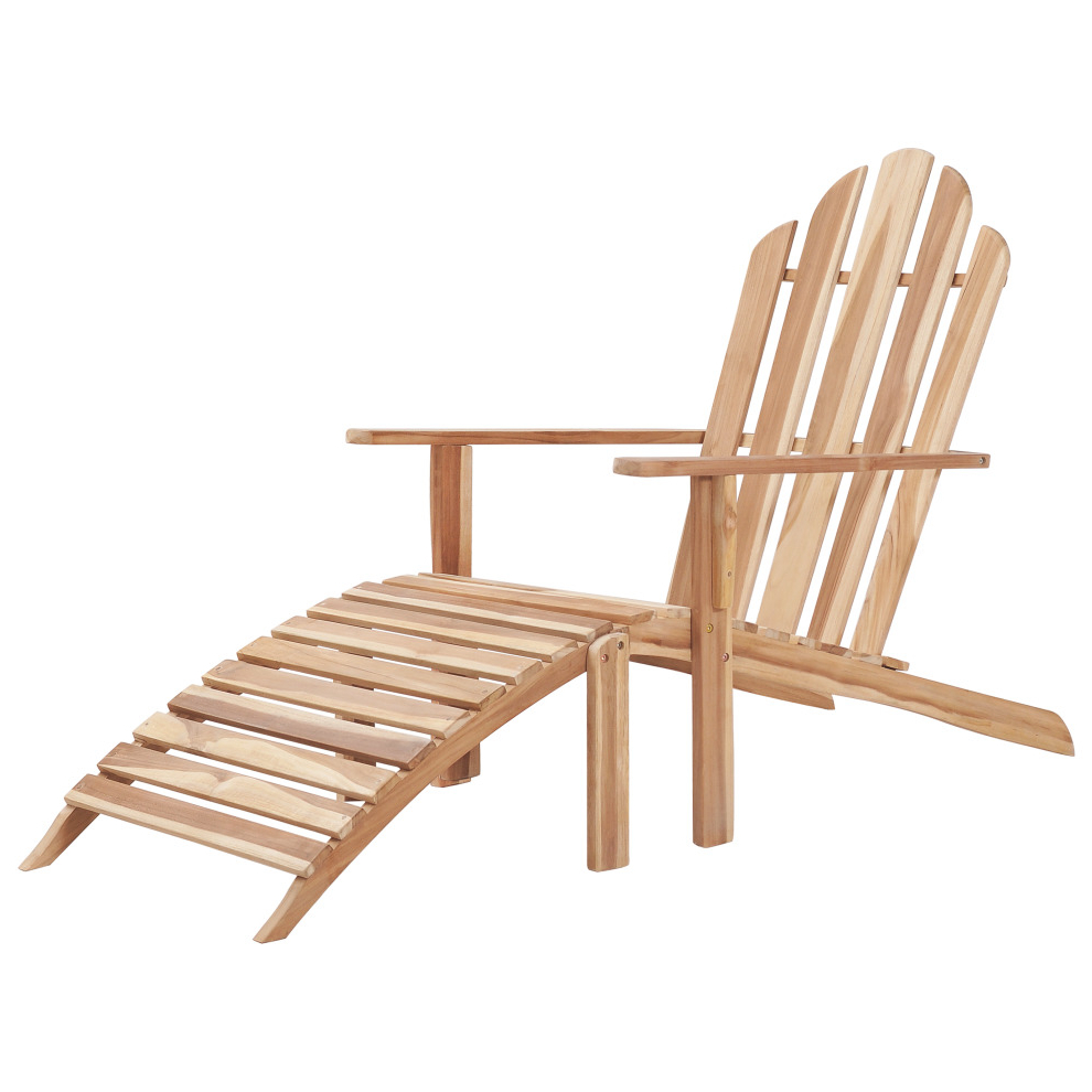 Adirondack Chairs With Footrest Pertaining To Popular Vidaxl Adirondack Chair With Footrest Teak (View 5 of 25)