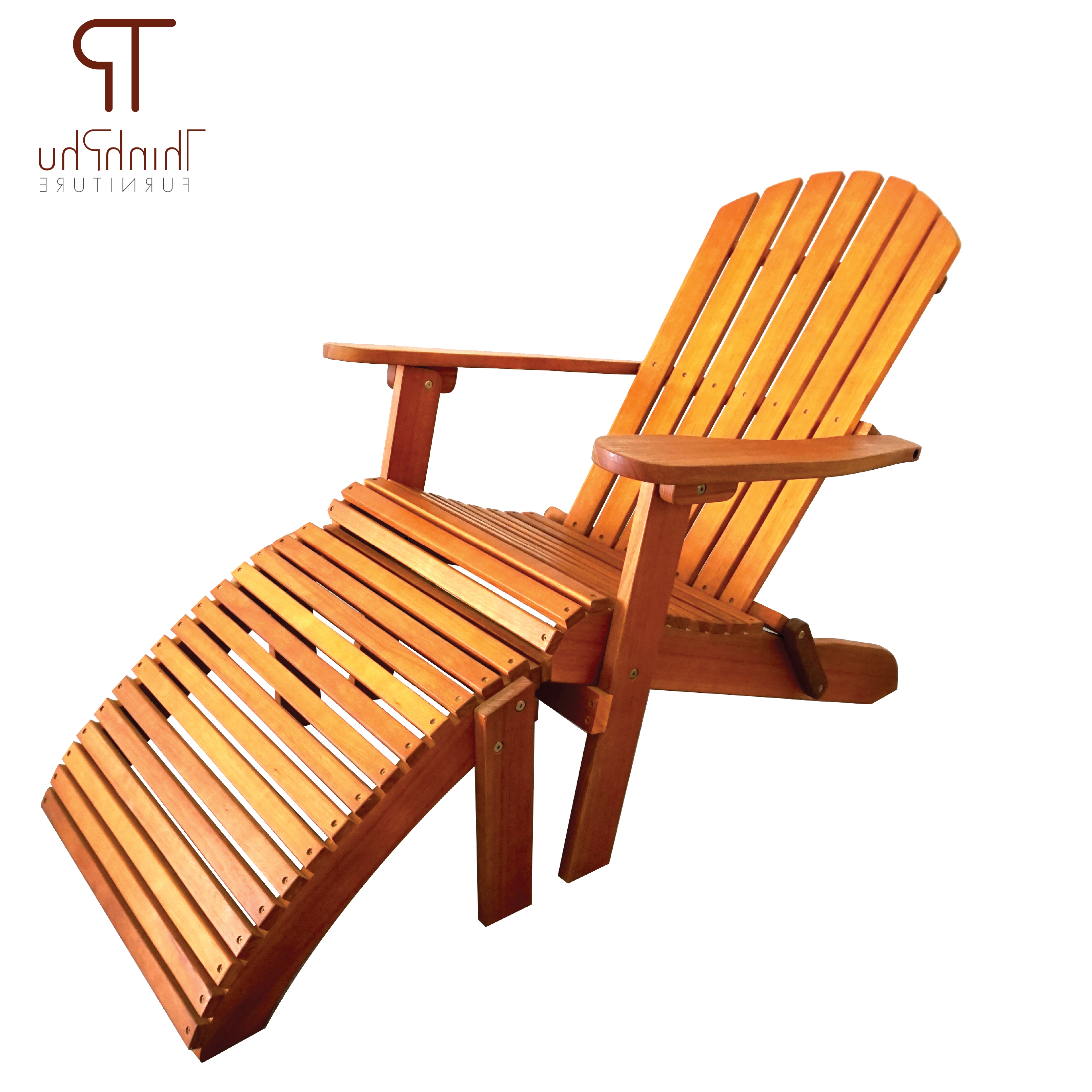 Adirondack Chairs With Footrest Regarding 2020 Adirondack Chair With Footrest Luxius (View 6 of 25)