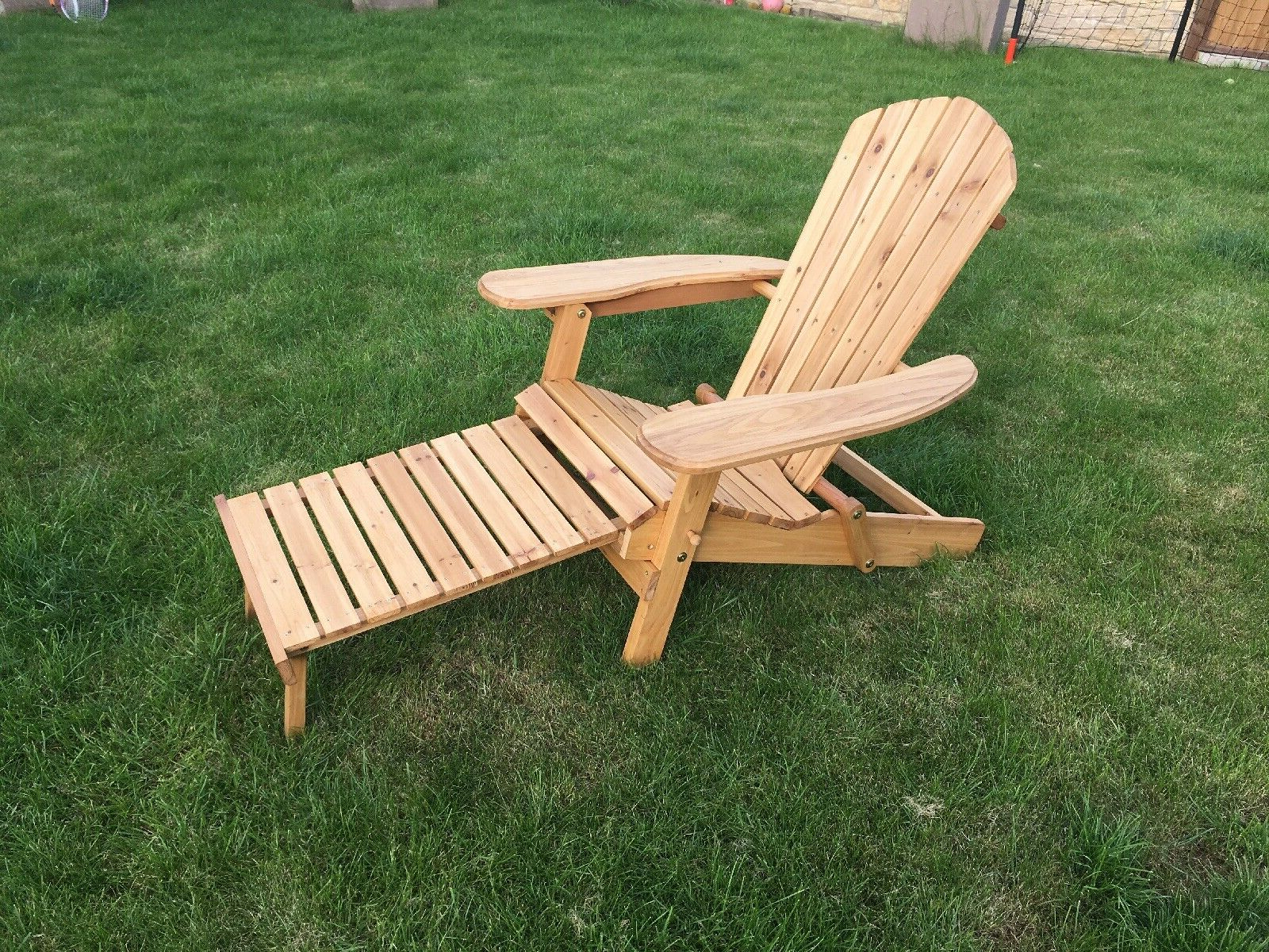 Adirondack Pine Chairs Reduced From £120 With Ottoman/footstool Garden Or  Home Within Famous Adirondack Chairs With Footrest (View 9 of 25)