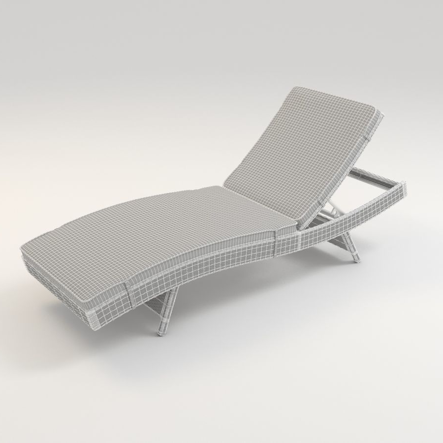 Adjustable Outdoor Wicker Chaise Lounge Chairs With Cushion With Regard To Newest Lakeport Outdoor Adjustable Chaise Lounge Chair With Cushion (View 7 of 25)