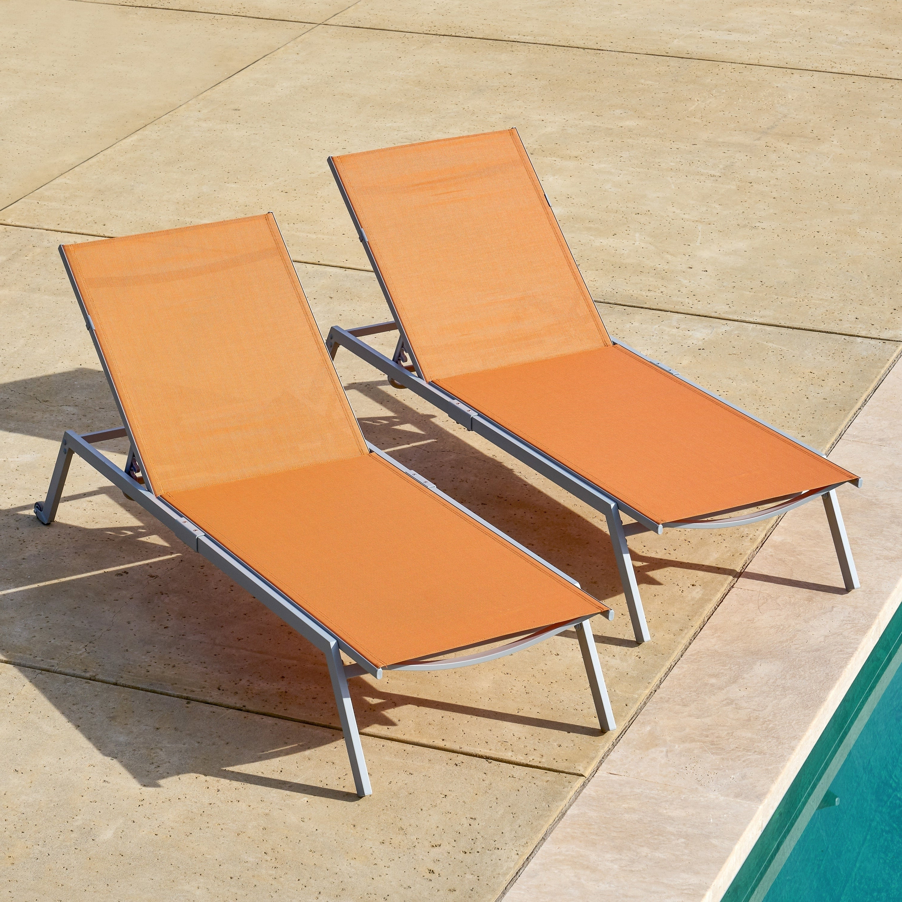Adjustable Sling Fabric Patio Chaise Lounges Intended For Famous Corvus Torino Adjustable Sling Fabric Patio Chaise Lounge (View 4 of 25)