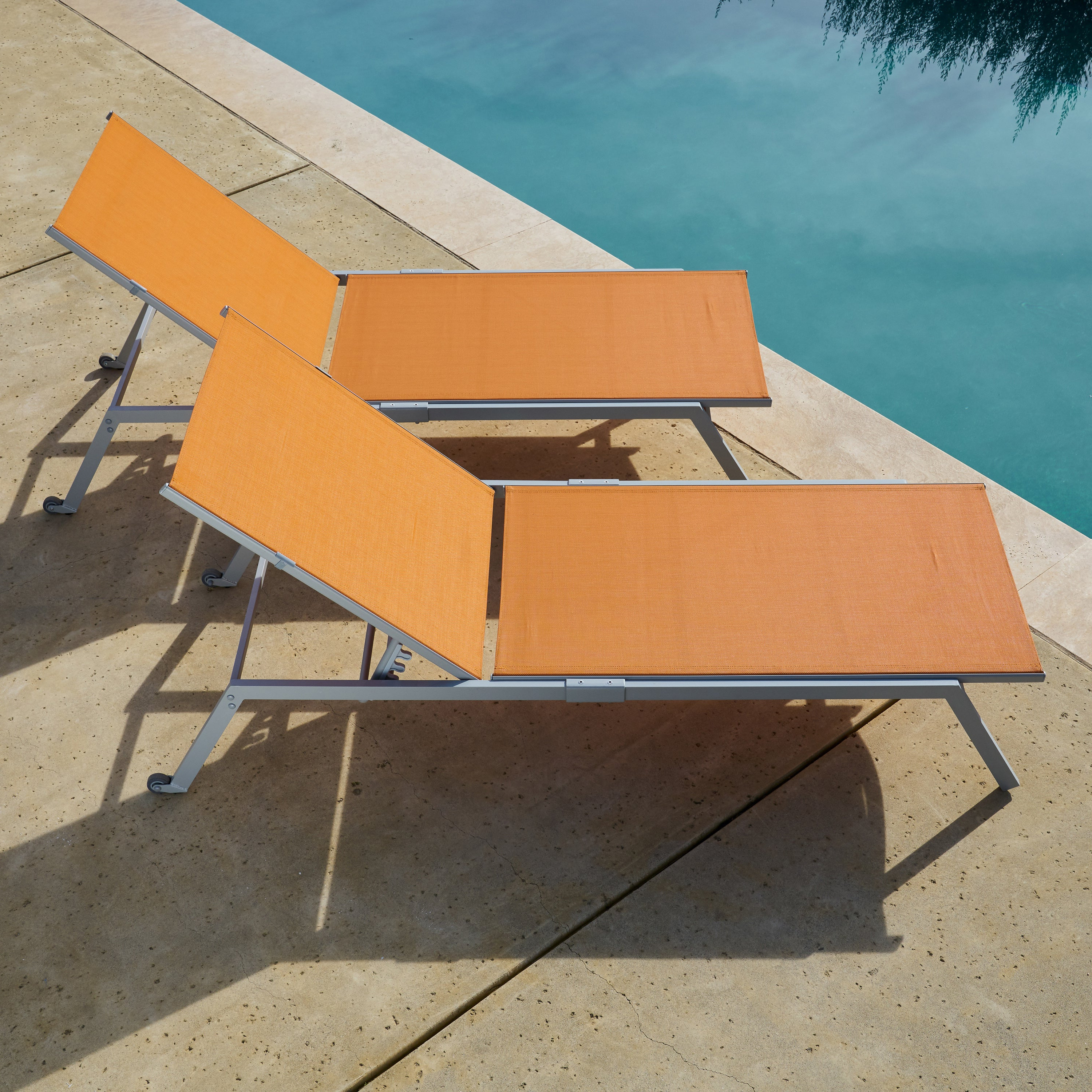 Adjustable Sling Fabric Patio Chaise Lounges Throughout Well Liked Corvus Torino Adjustable Sling Fabric Patio Chaise Lounge (View 10 of 25)
