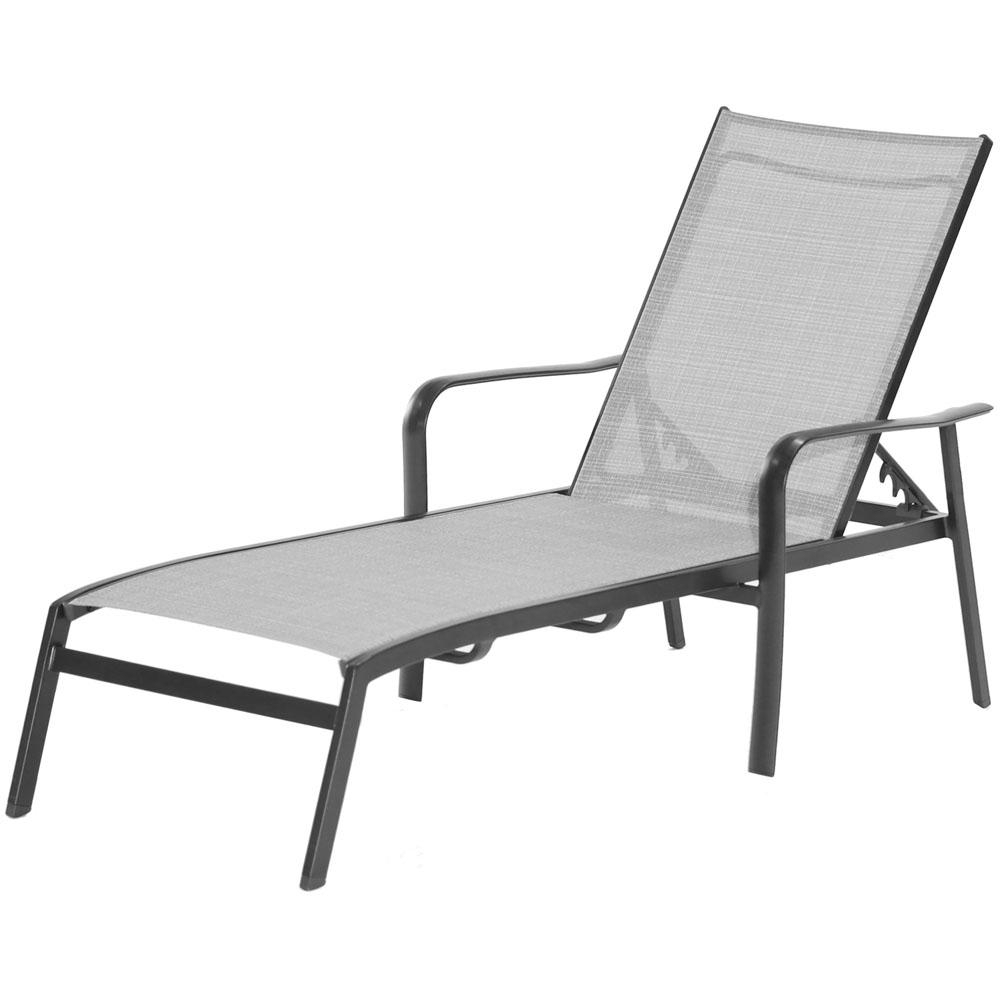 Adjustable Sling Fabric Patio Chaise Lounges Within Most Recently Released Hanover Foxhill All Weather Commercial Rust Free Aluminum Outdoor Chaise  Lounge Chair With Sunbrella Sling Fabric (View 14 of 25)