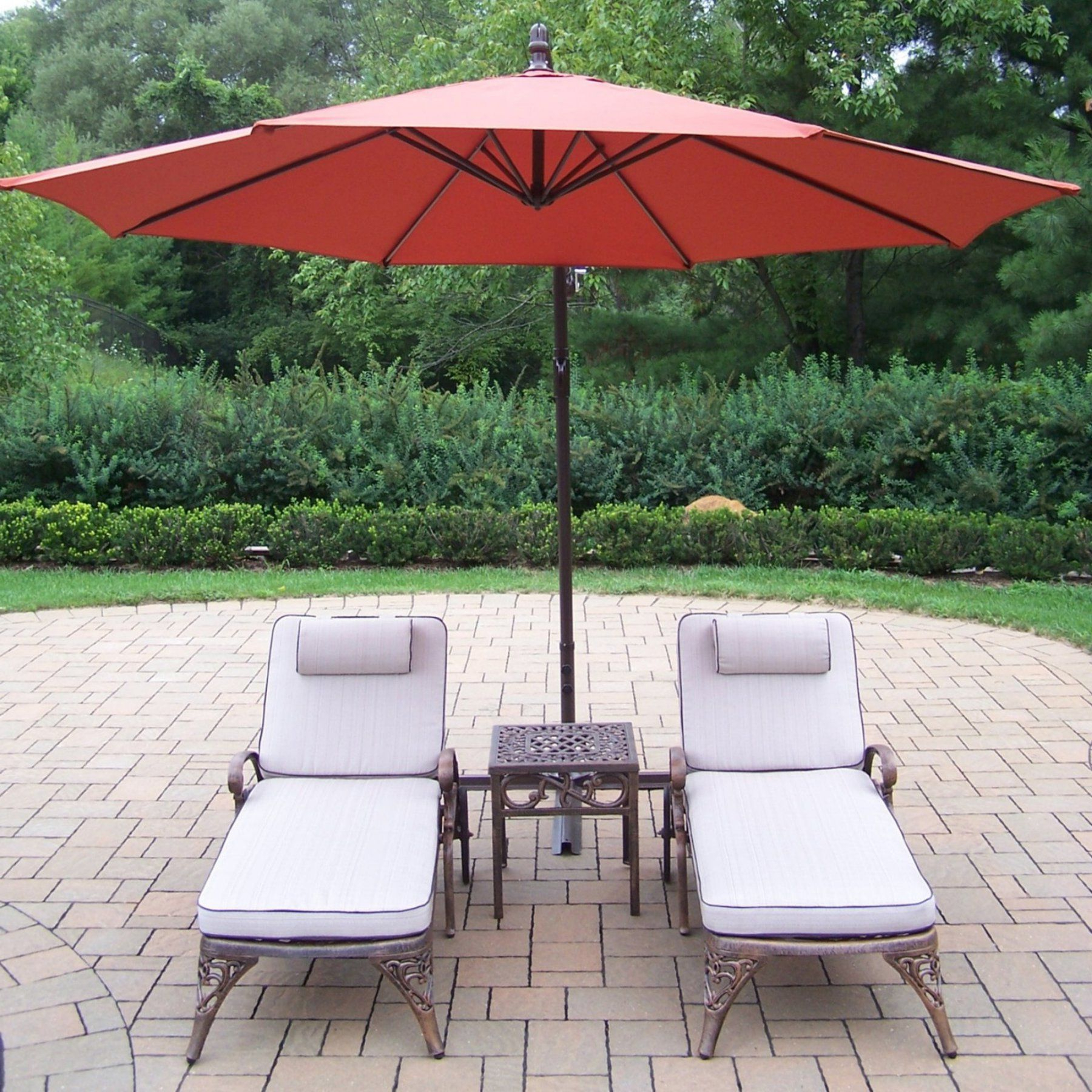 Aluminum Wheeled Chaise Lounges For Most Recently Released Outdoor Oakland Living Mississippi Cast Aluminum Chaise (View 2 of 25)