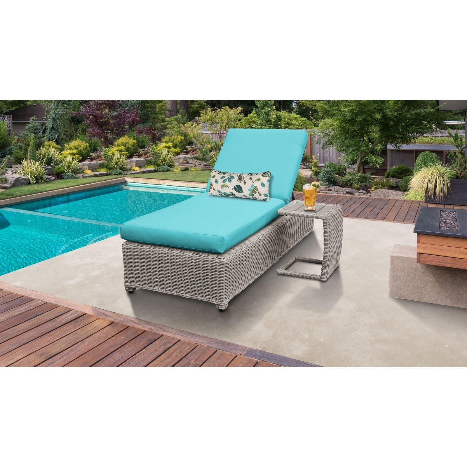 Aluminum Wheeled Chaise Lounges In Preferred Coast Wheeled Chaise Outdoor Wicker Patio Furniture And Side (View 17 of 25)