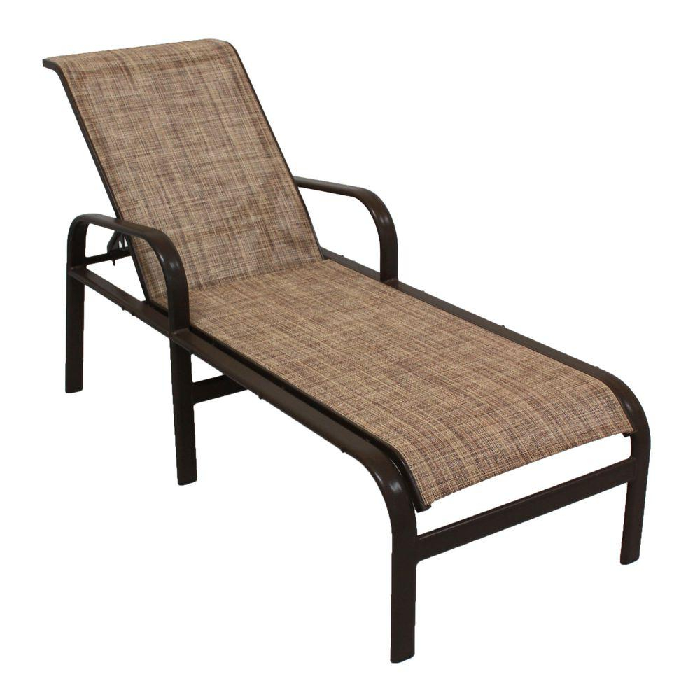 Aluminum Wheeled Chaise Lounges Intended For Famous Marco Island Dark Cafe Brown Commercial Grade Aluminum Patio Chaise Lounge With Chesterfield Sling (View 12 of 25)
