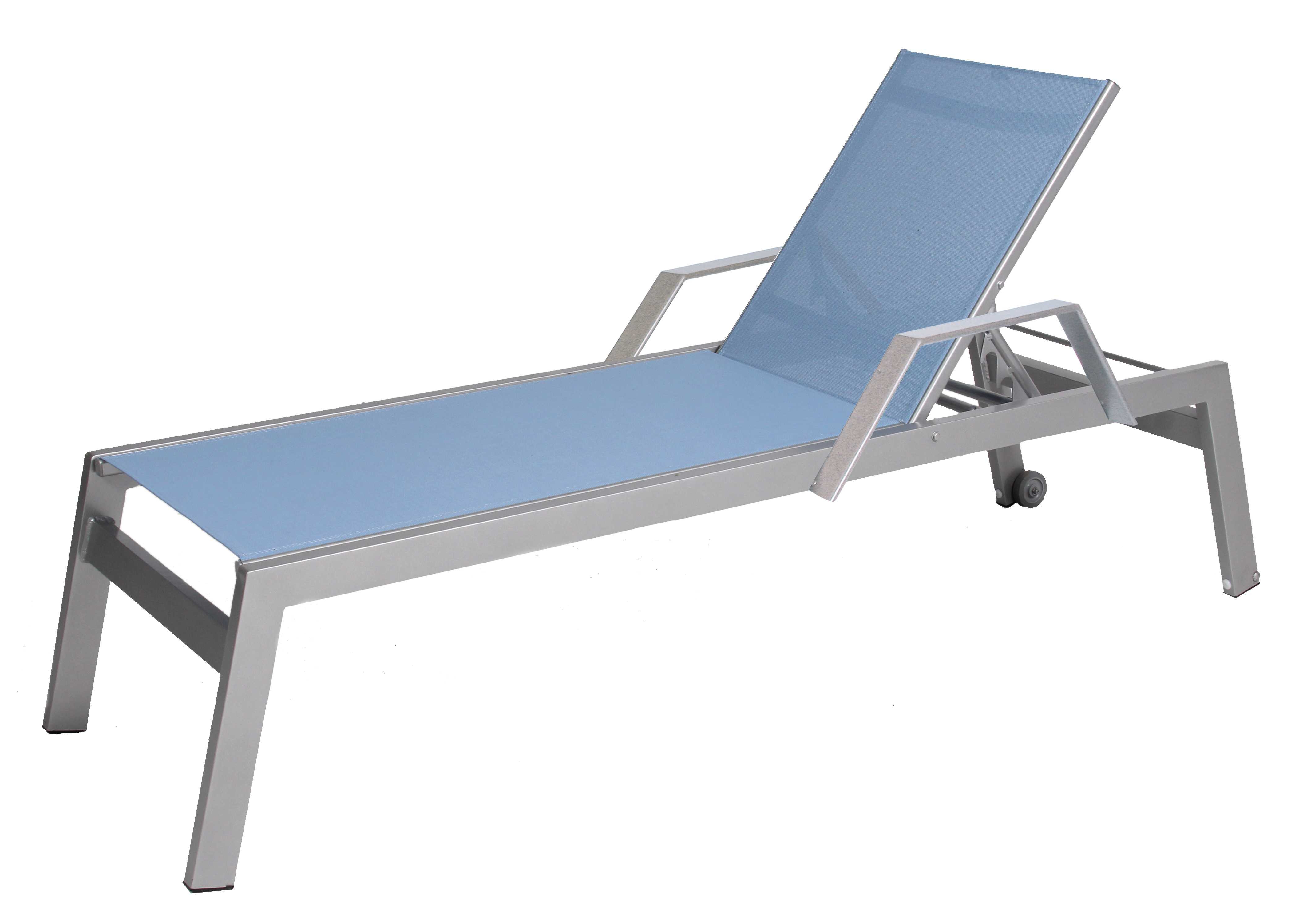 Aluminum Wheeled Chaise Lounges Pertaining To Newest Suncoast Vectra Rise Sling Aluminum Chaise Lounge Arms With Wheels (View 5 of 25)