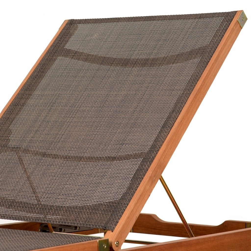 Amazonia Outdoor Sling Eucalyptus Chaise Lounger – N/a Within Popular Outdoor Sling Eucalyptus Chaise Loungers (View 4 of 25)