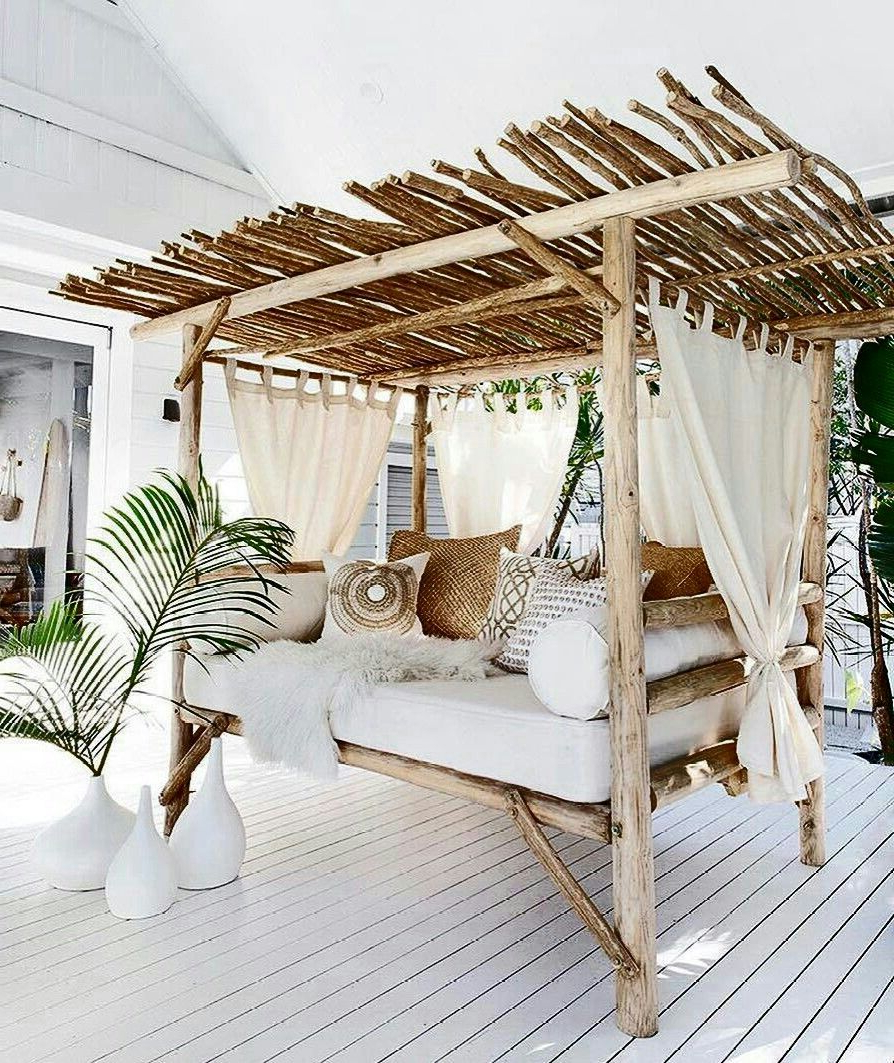 Bamboo Daybeds With Canopy For Most Current Bamboo And Wood Canopy Bed (View 6 of 25)
