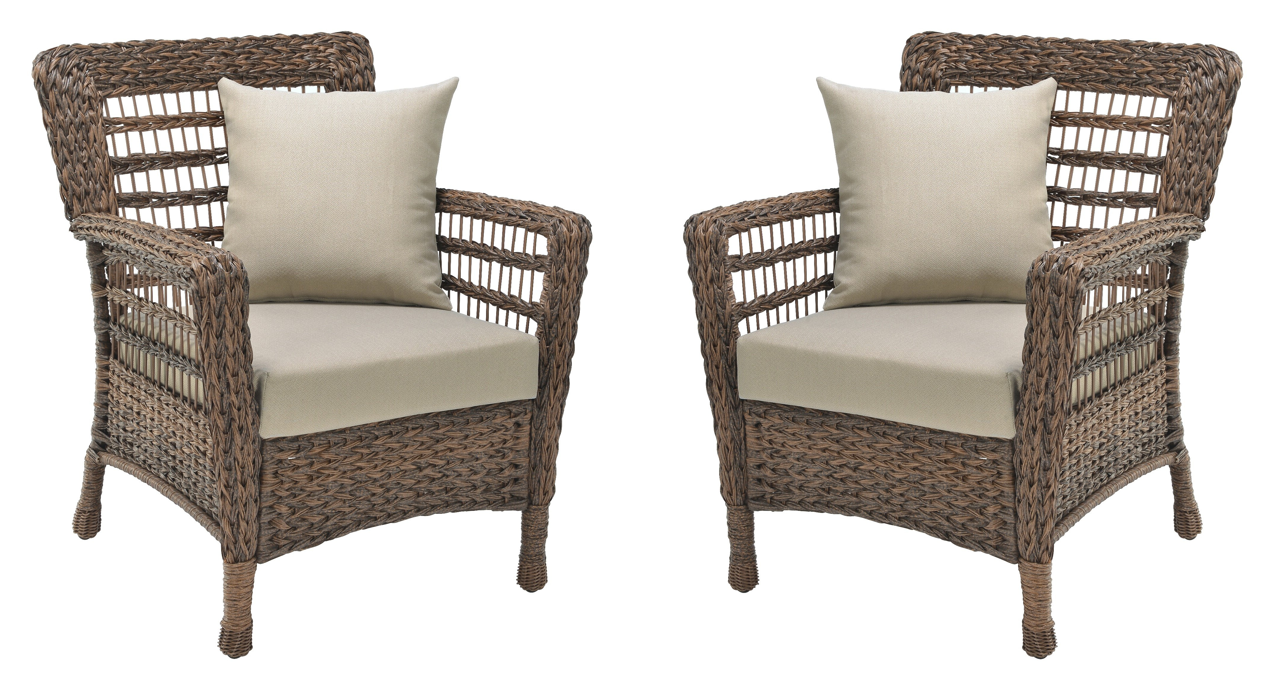 Bay Isle Home Donn Modern Faux Sea Grass Resin Rattan Patio With Favorite Modern Home Wailea Woven Rattan Loungers (View 8 of 25)