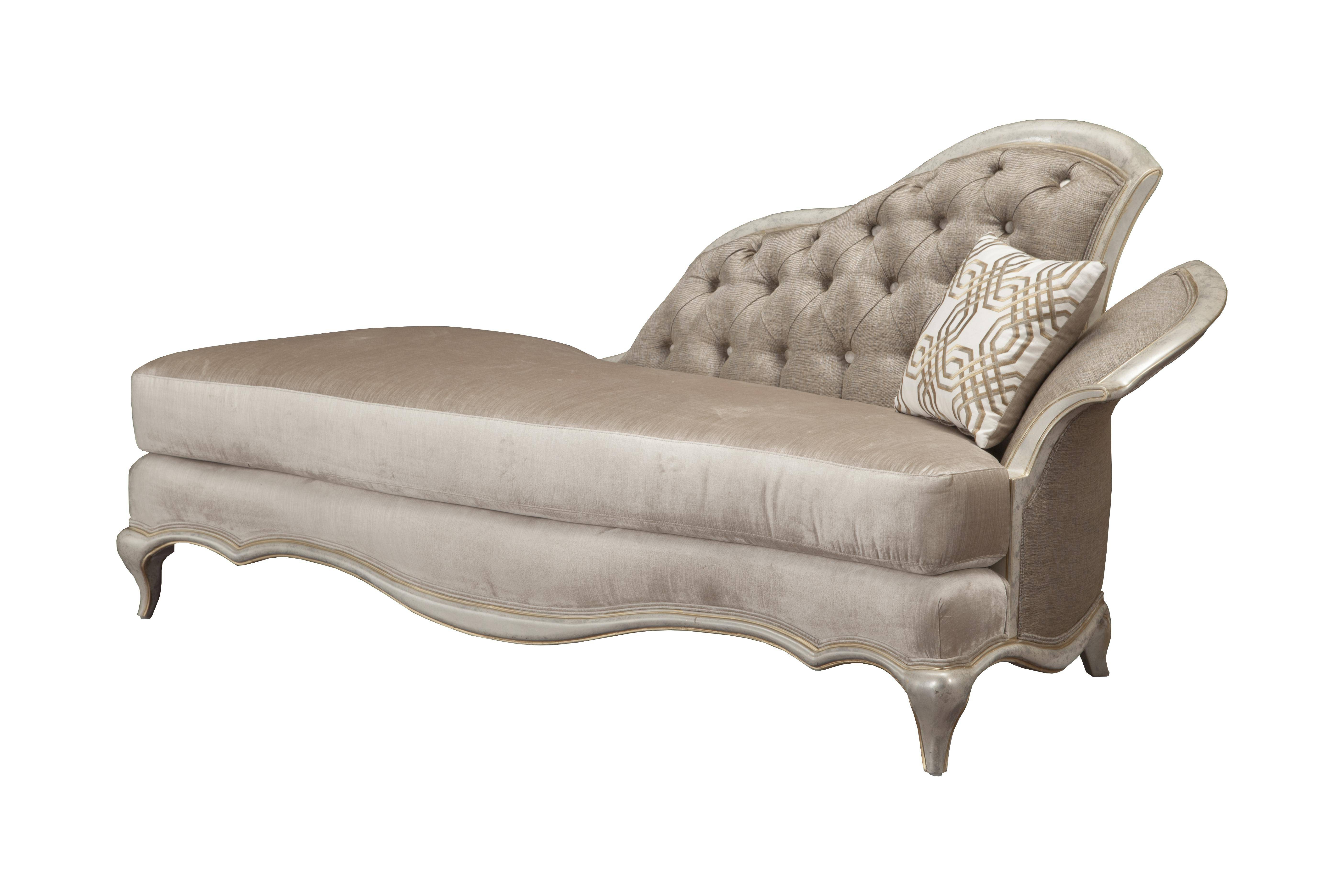Benetti's Perlita Luxury Beige Pearl Silk Chenille Silver Gold Chaise Lounge Within Most Recently Released Pearl Chaise Lounges (View 2 of 25)