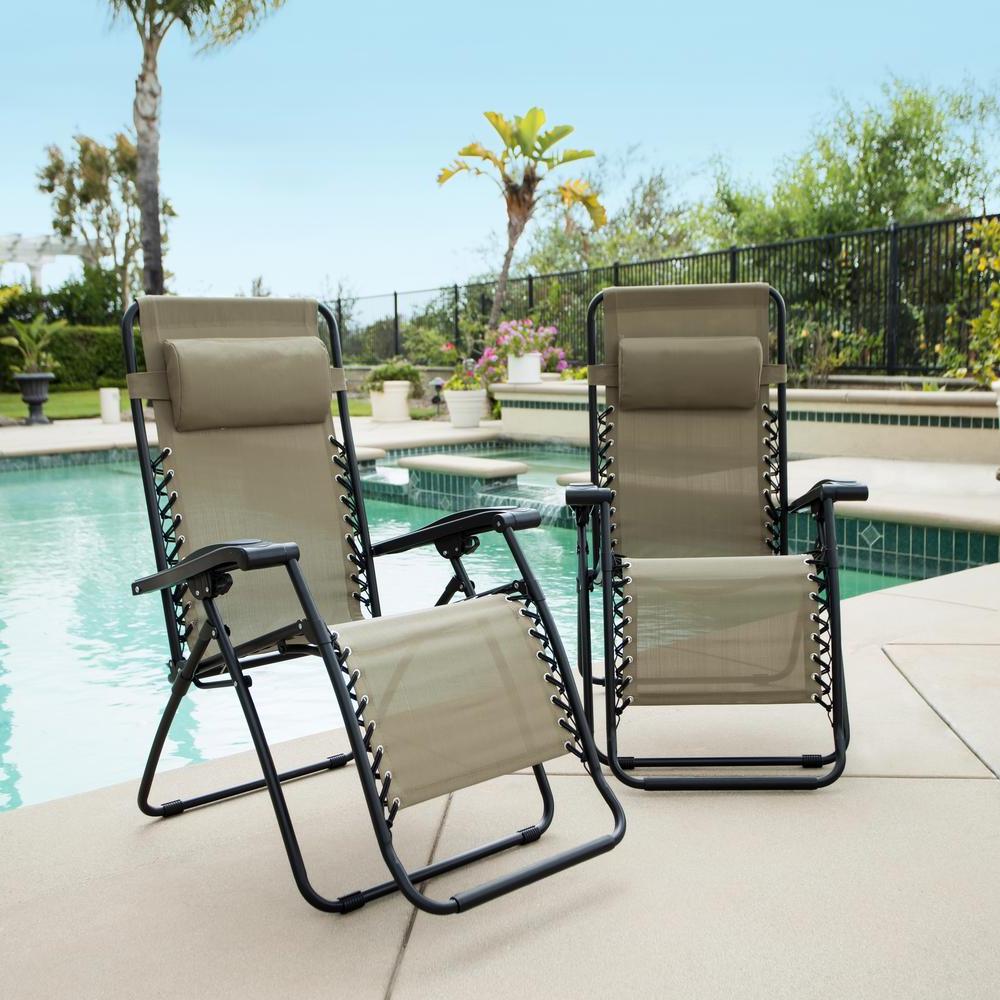 Best And Newest Caravan Sportsbeige Zero Gravity Chairs For Patio Furniture Lock – Caldwellcountytxoem (Gallery 24 of 25)