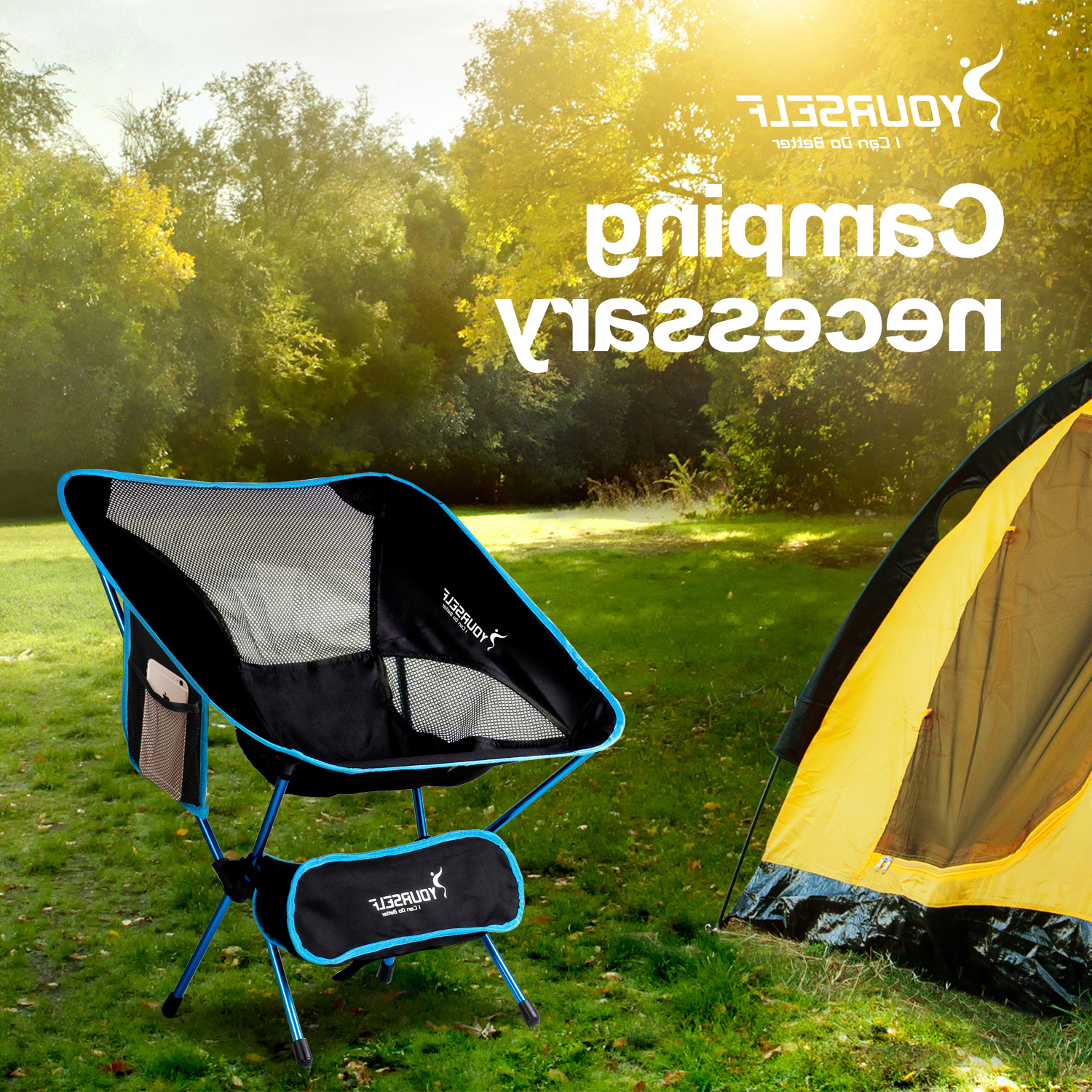 Best And Newest Foldable Camping And Lounge Chairs With Regard To Camping Reclining Lounge Chair Collapsible Reclining Chair Syourself (View 3 of 25)