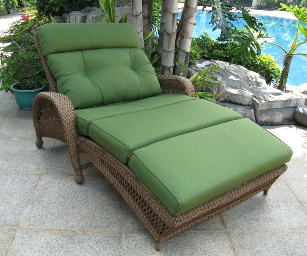 Best And Newest Furniture: Inspiring Double Chaise Lounge Outdoor For Patio With Adjustable Outdoor Wicker Chaise Lounge Chairs With Cushion (View 9 of 25)