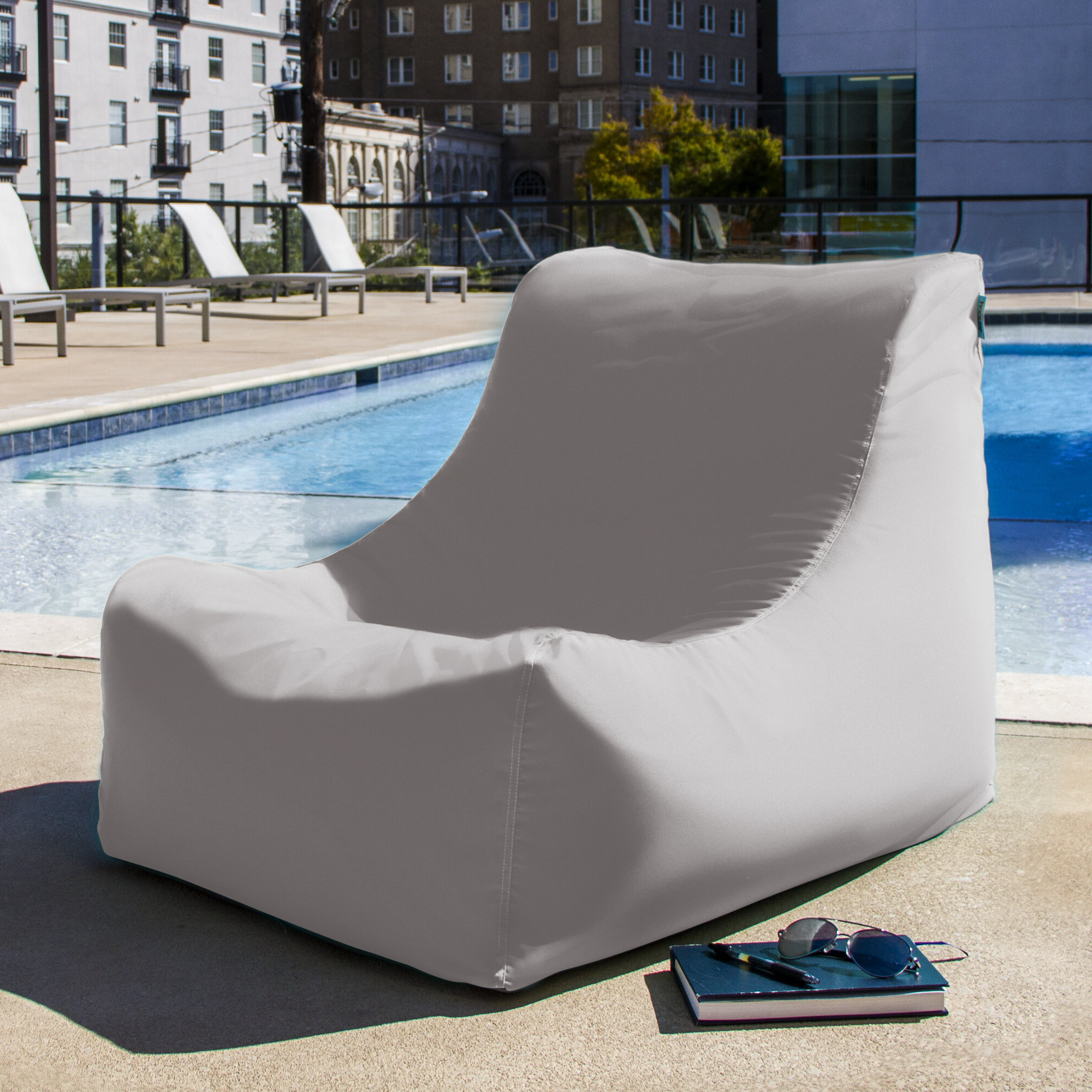 Best And Newest Jaxx Twist Outdoor Patio Bean Bag Chairs Within Ponce Outdoor Bean Bag Lounger (View 8 of 25)