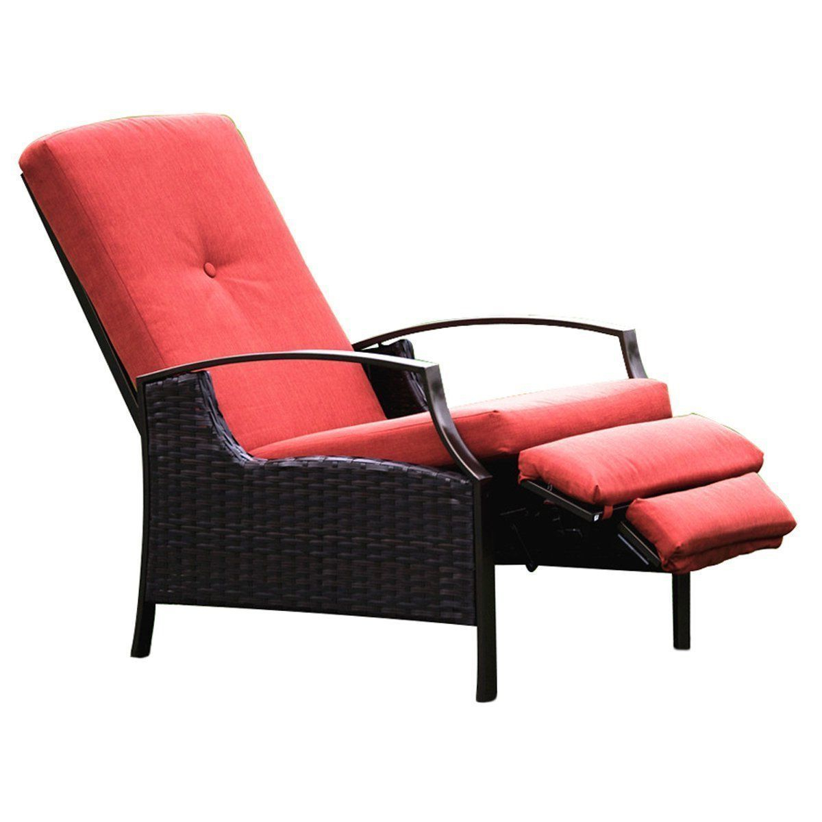 Best And Newest Naturefun Indoor/outdoor Wicker Adjustable Recliner Chair With Regard To Outdoor Adjustable Rattan Wicker Recliner Chairs With Cushion (View 5 of 25)