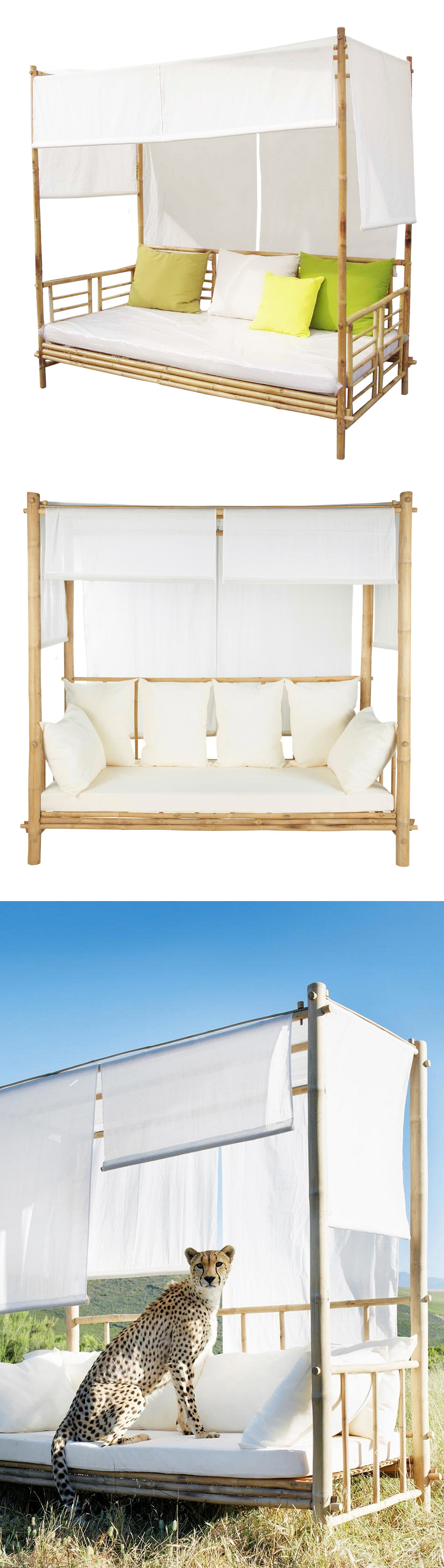Best And Newest Outdoor Canopy Bamboo Daybed* // (note: *cheetah Not Within Bamboo Daybeds With Canopy (View 9 of 25)