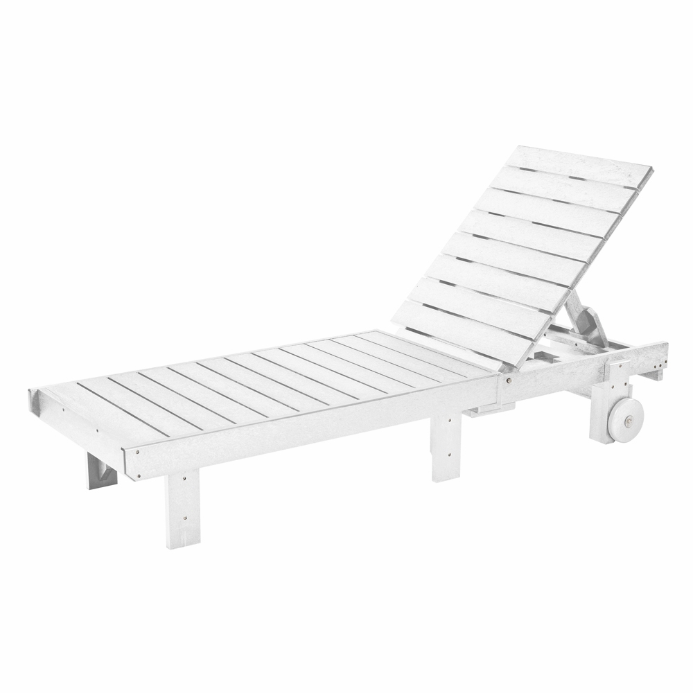Best And Newest Plastic Chaise Lounges W/ Wheels Regarding Cr Plastic Products – Generations Chaise Lounge With Wheels In White – L78 02 (Gallery 10 of 25)