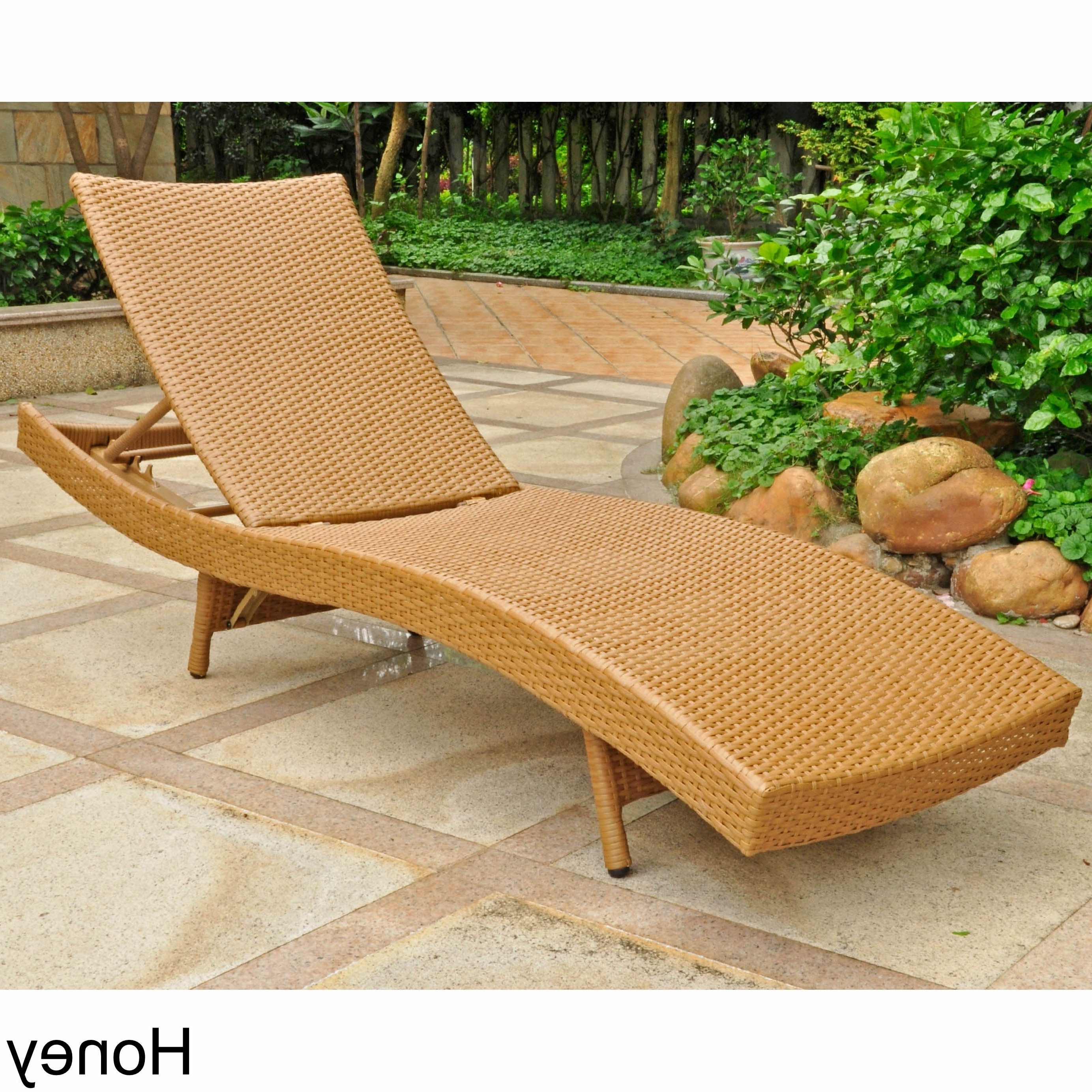 Best And Newest Resin Wicker Aluminum Multi Position Chaise Lounges Throughout International Caravan Barcelona Resin Wicker/aluminum Outdoor  Multi Position Chaise Lounge (View 4 of 25)