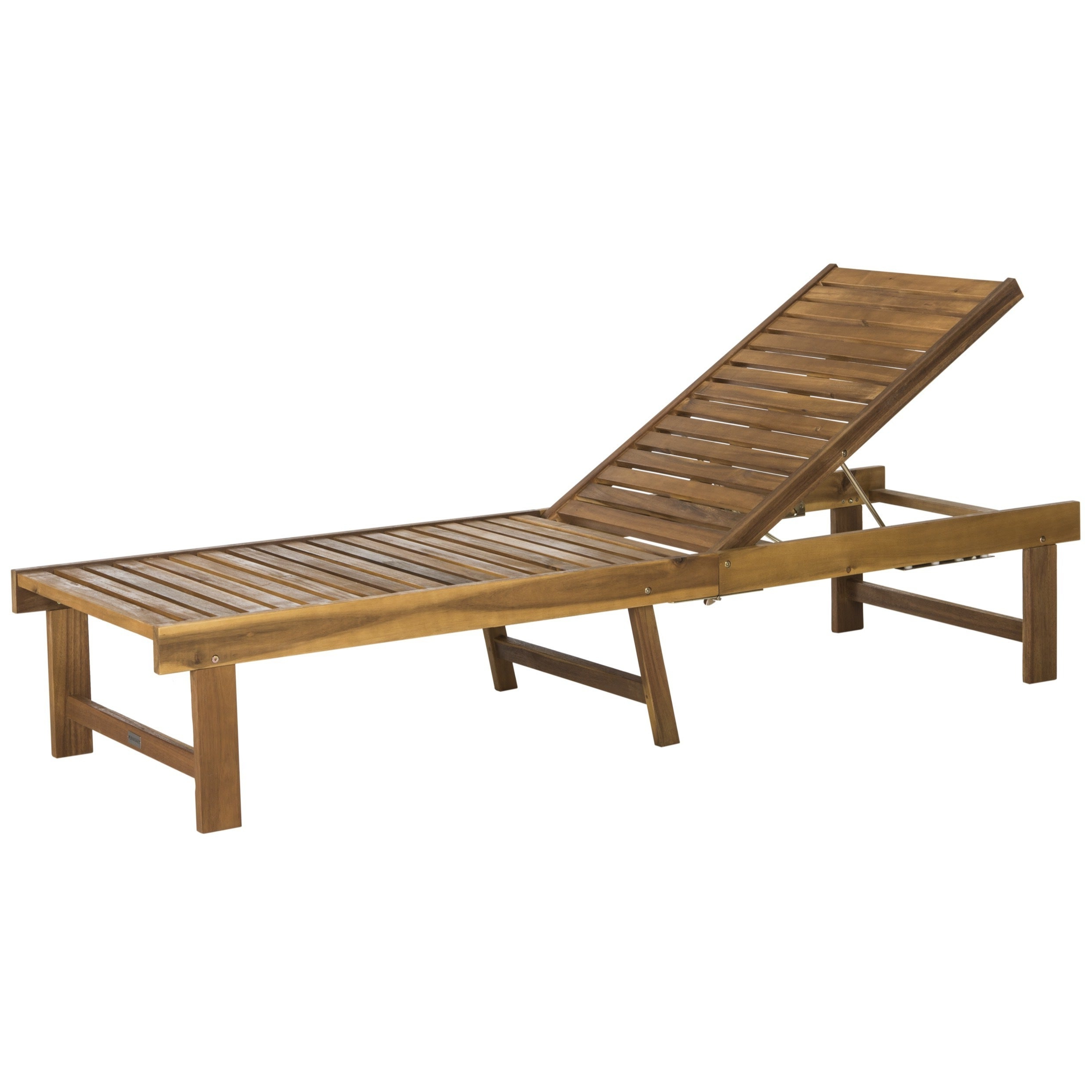 "Best And Newest Safavieh Outdoor Living Inglewood Brown/ Navy Chaise Lounge Chair – 23.6"" X 75.2"" X (View 10 of 25)"