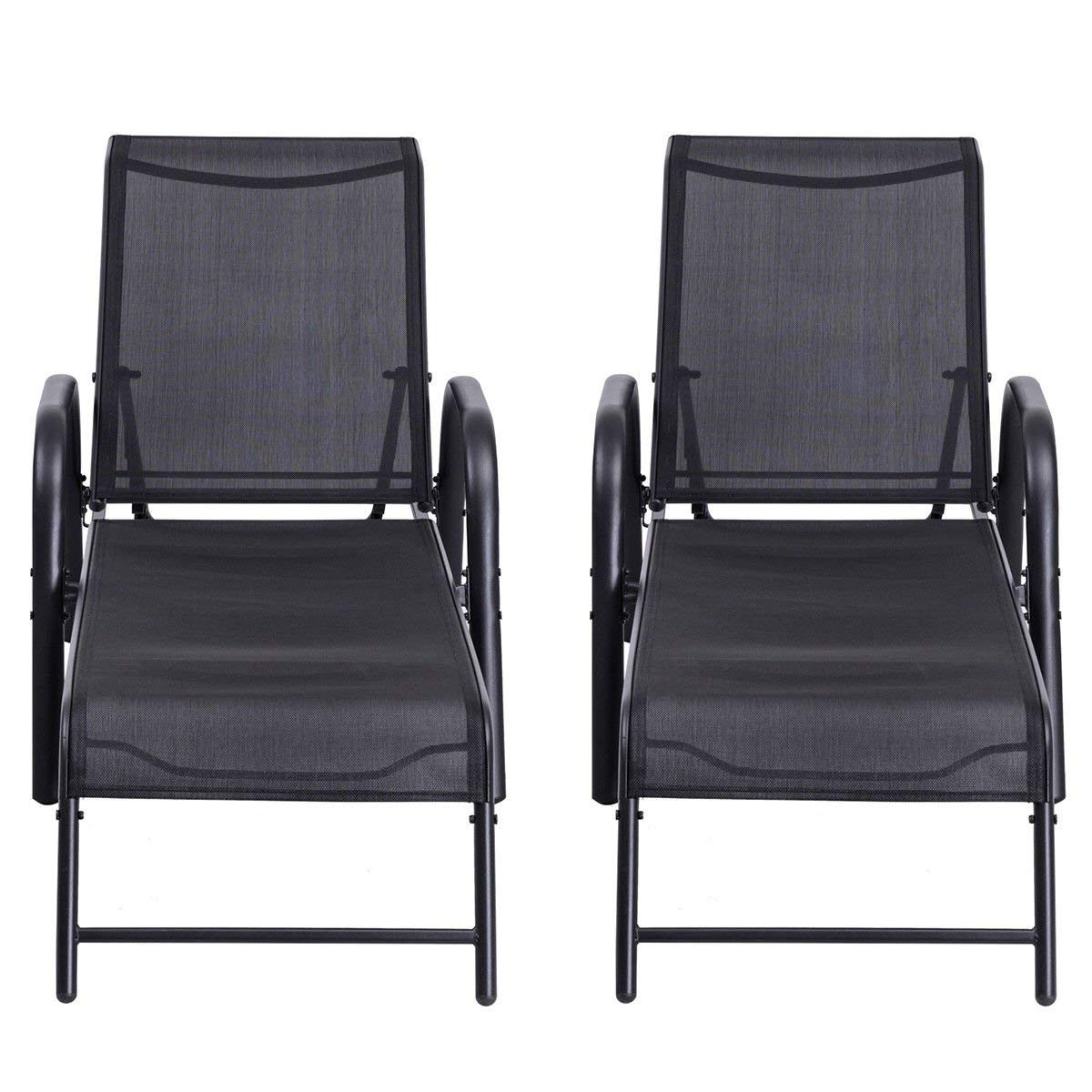 Black Sling Fabric Adjustable Chaise Lounges In Most Up To Date Cheap Chaise Lounge Sling, Find Chaise Lounge Sling Deals On (Gallery 21 of 25)