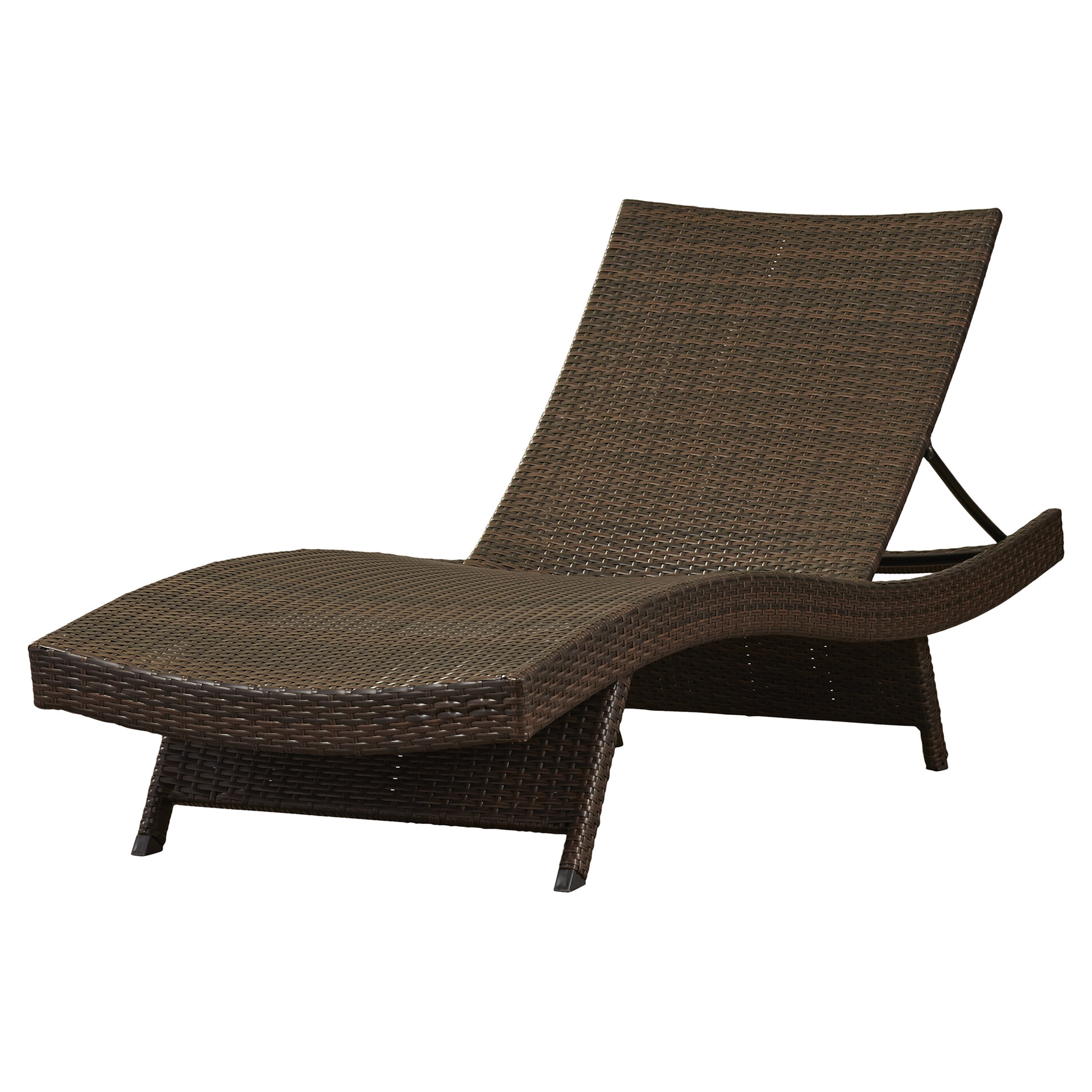 Brown Folding Patio Chaise Lounger Chairs Regarding 2019 Rebello Reclining Chaise Lounge (View 6 of 25)
