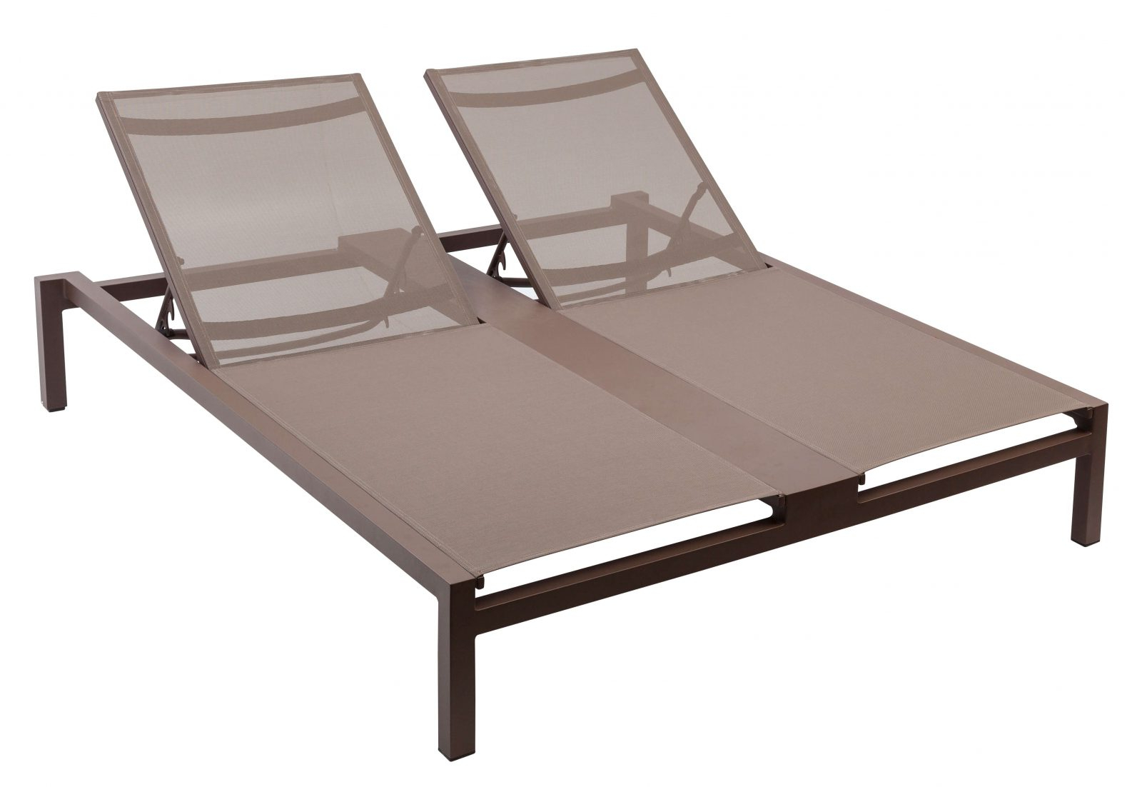 Buy Contract Mediterranean Double Sun Lounger Armless W Within Preferred Wicker Chaise Back Adjustable Patio Lounge Chairs With Wheels (View 19 of 25)