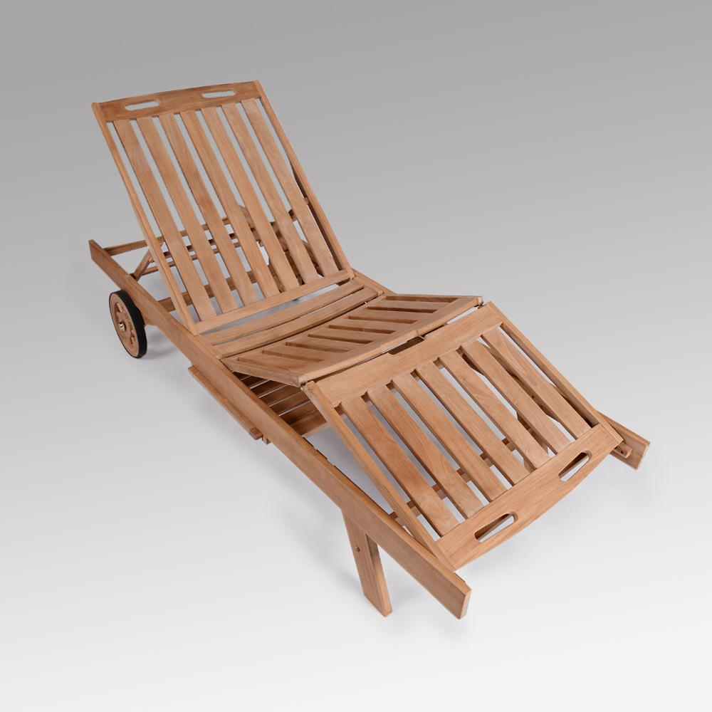 Cambridge Casual Heaton Teak Wood Outdoor Adjustable Chaise Lounge Within Most Recently Released Outdoor Adjustable Wood Chaise Lounges (View 4 of 25)