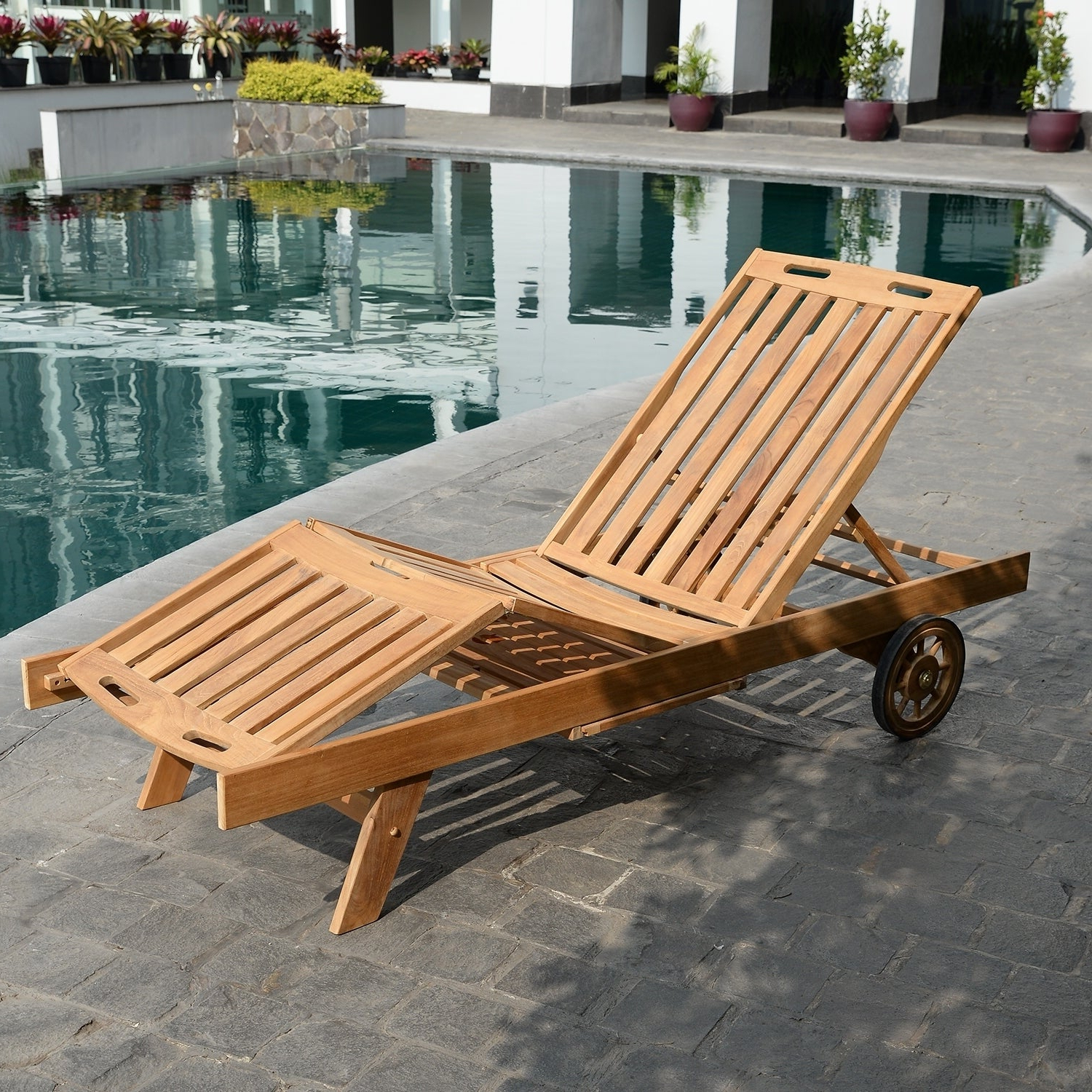 Featured Photo of Cambridge Casual Sherwood Teak Chaise Lounges