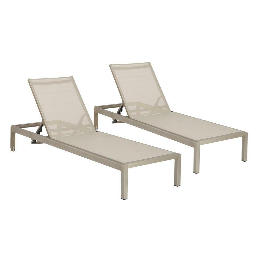 Cape Coral Outdoor Aluminum Adjustable Chaise Lounge (set Of Inside Most Up To Date Cape Coral Outdoor Chaise Lounges With Cushion (View 16 of 25)