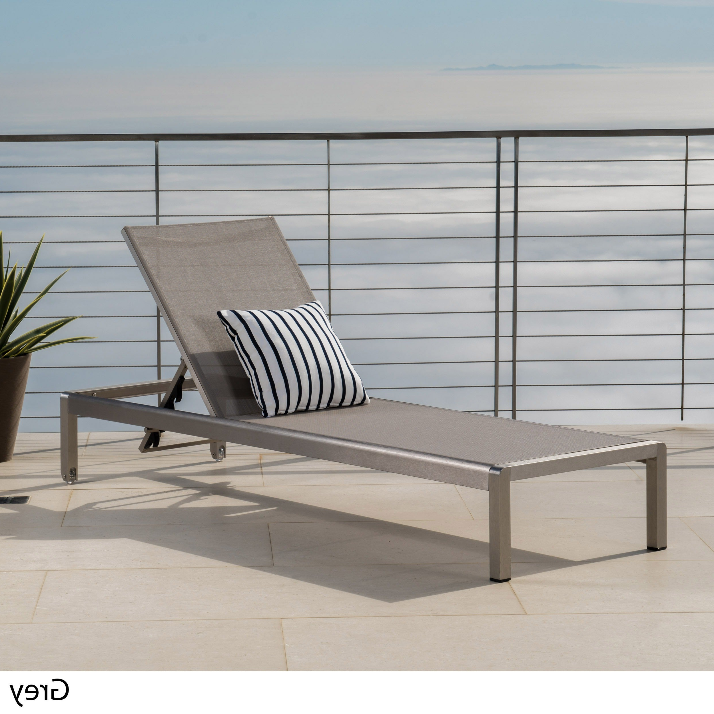 Cape Coral Outdoor Aluminum Adjustable Chaise Loungechristopher Knight  Home With Regard To Best And Newest Cape Coral Outdoor Aluminum Mesh Chaise Lounges (View 5 of 25)