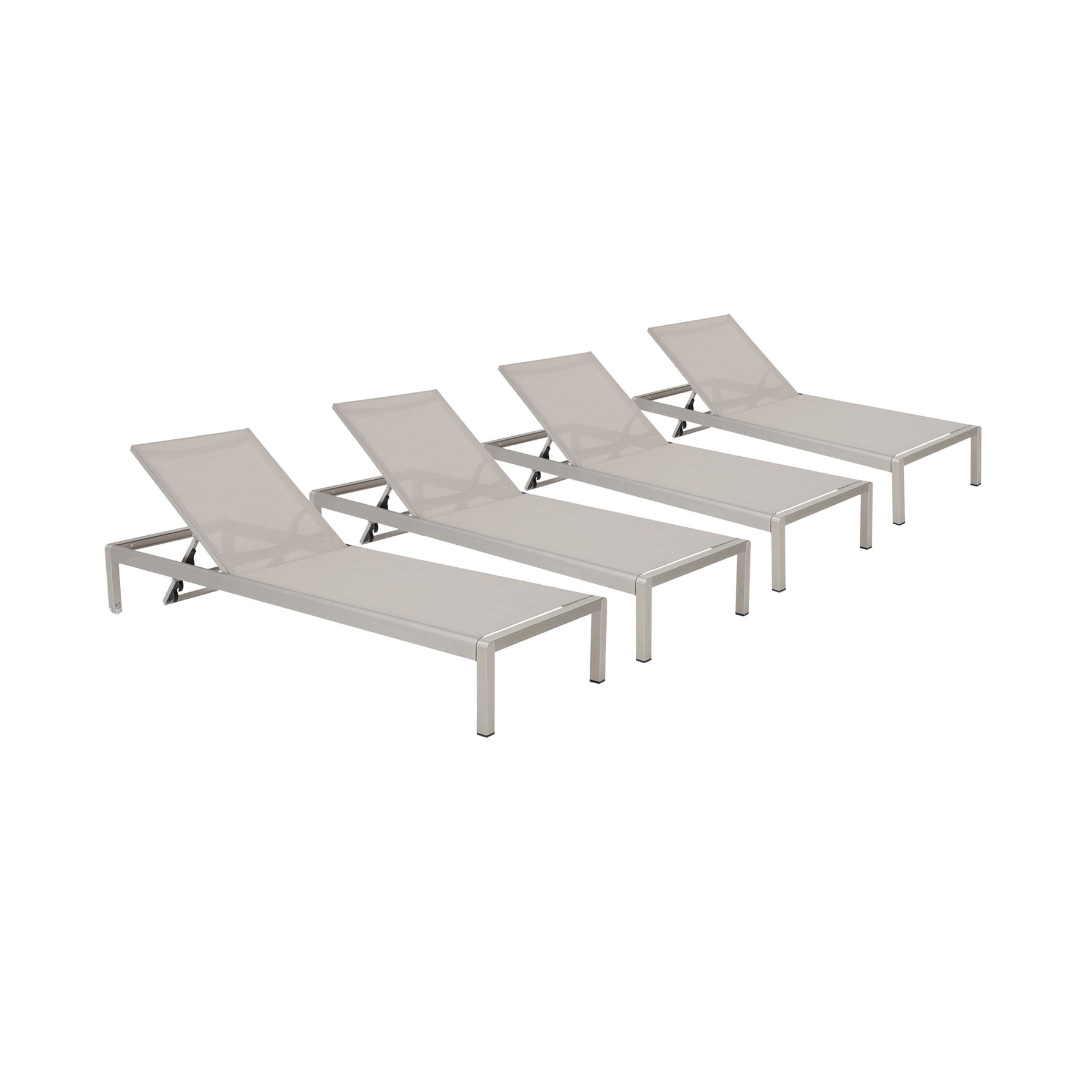 Cape Coral Outdoor Aluminum Chaise Lounges For 2020 Outdoor Best Selling Home Cape Coral Mesh Patio Chaise (View 24 of 25)