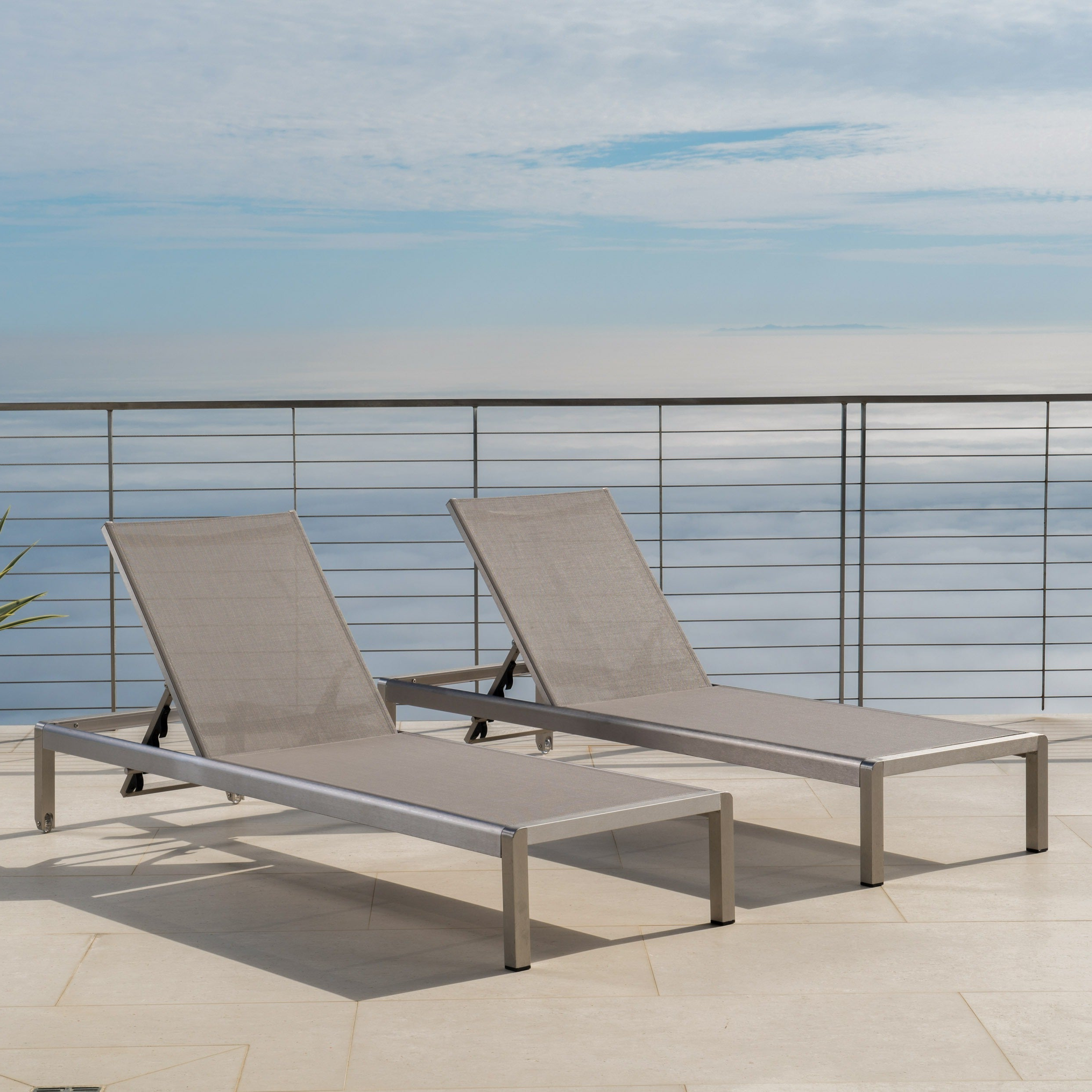 Featured Photo of Cape Coral Outdoor Aluminum Mesh Chaise Lounges