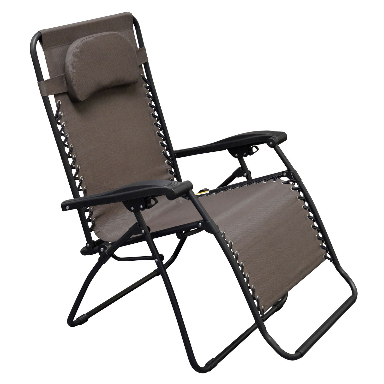 Caravan Canopy Infinity Zero Gravity Steel Frame Oversized Patio Chair, Brown Intended For Newest Caravan Canopy Zero Gravity Chairs (View 25 of 25)