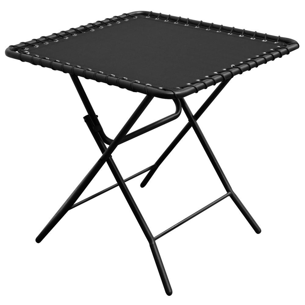 Caravan Sports Black Textilene Patio Folding Table Regarding Widely Used Caravan Sportsbeige Zero Gravity Chairs (View 10 of 25)