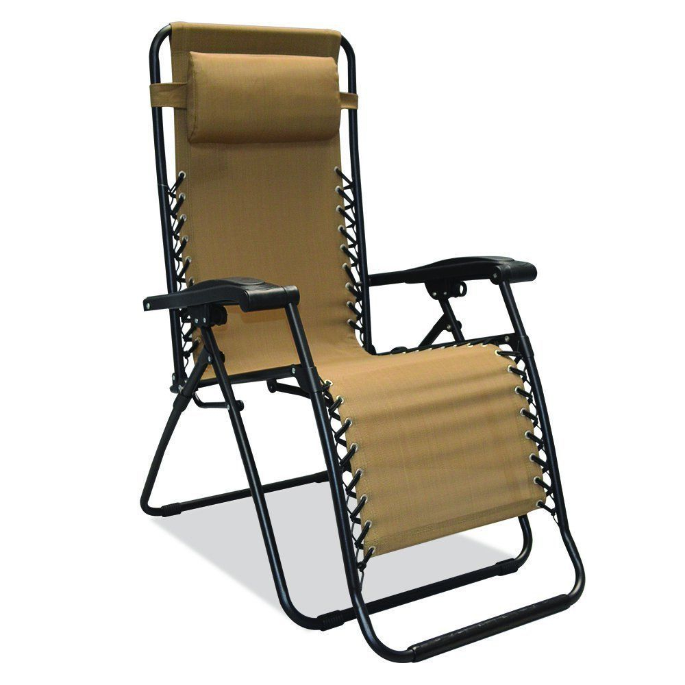 Caravan Sportsbeige Zero Gravity Chairs Pertaining To Most Current Zero Gravity Chair Beige Outdoor Rocking Glider Recline (View 4 of 25)
